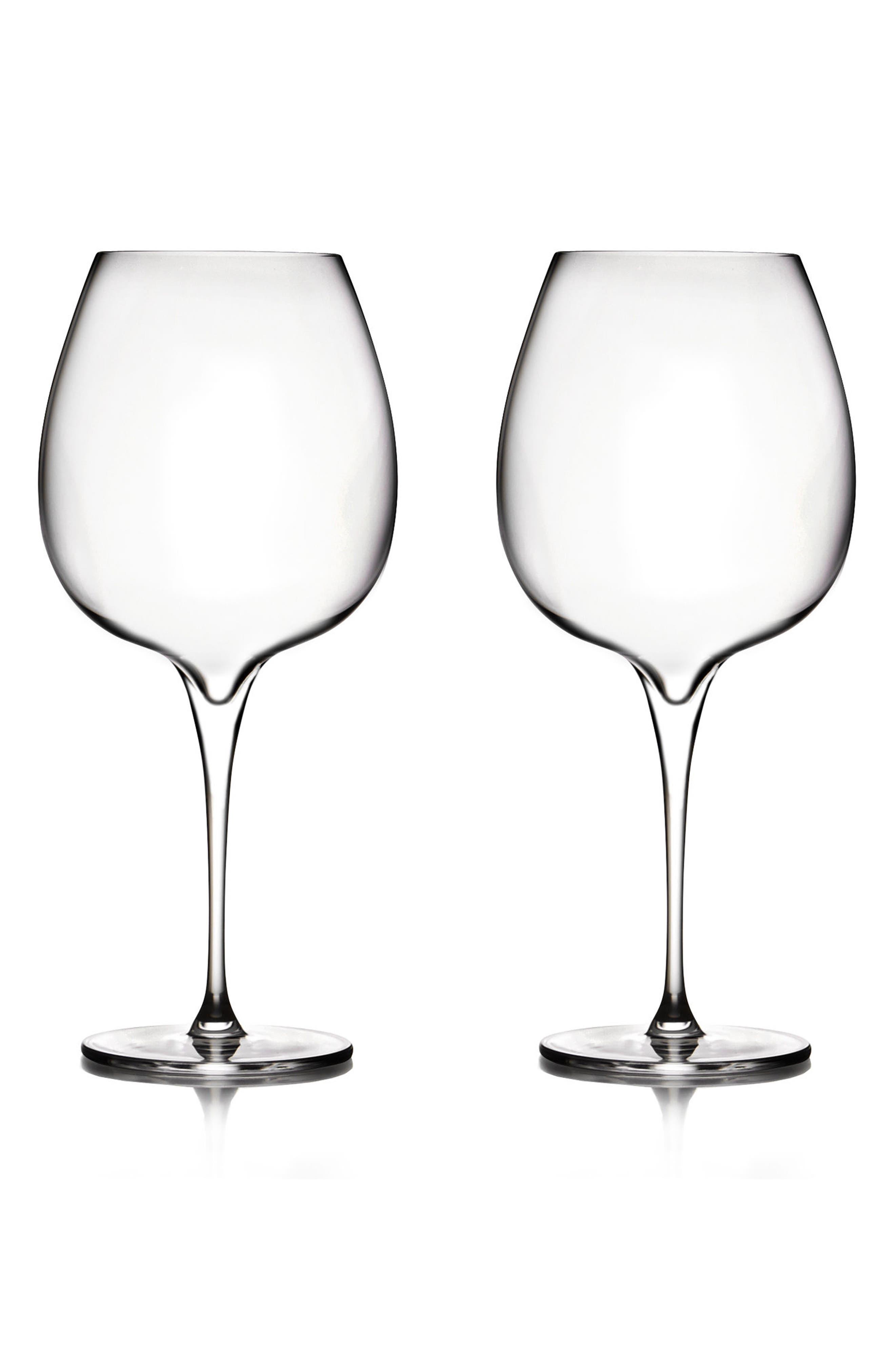 Main Image - Nambé Vie Set of 2 Pinot Noir Glasses