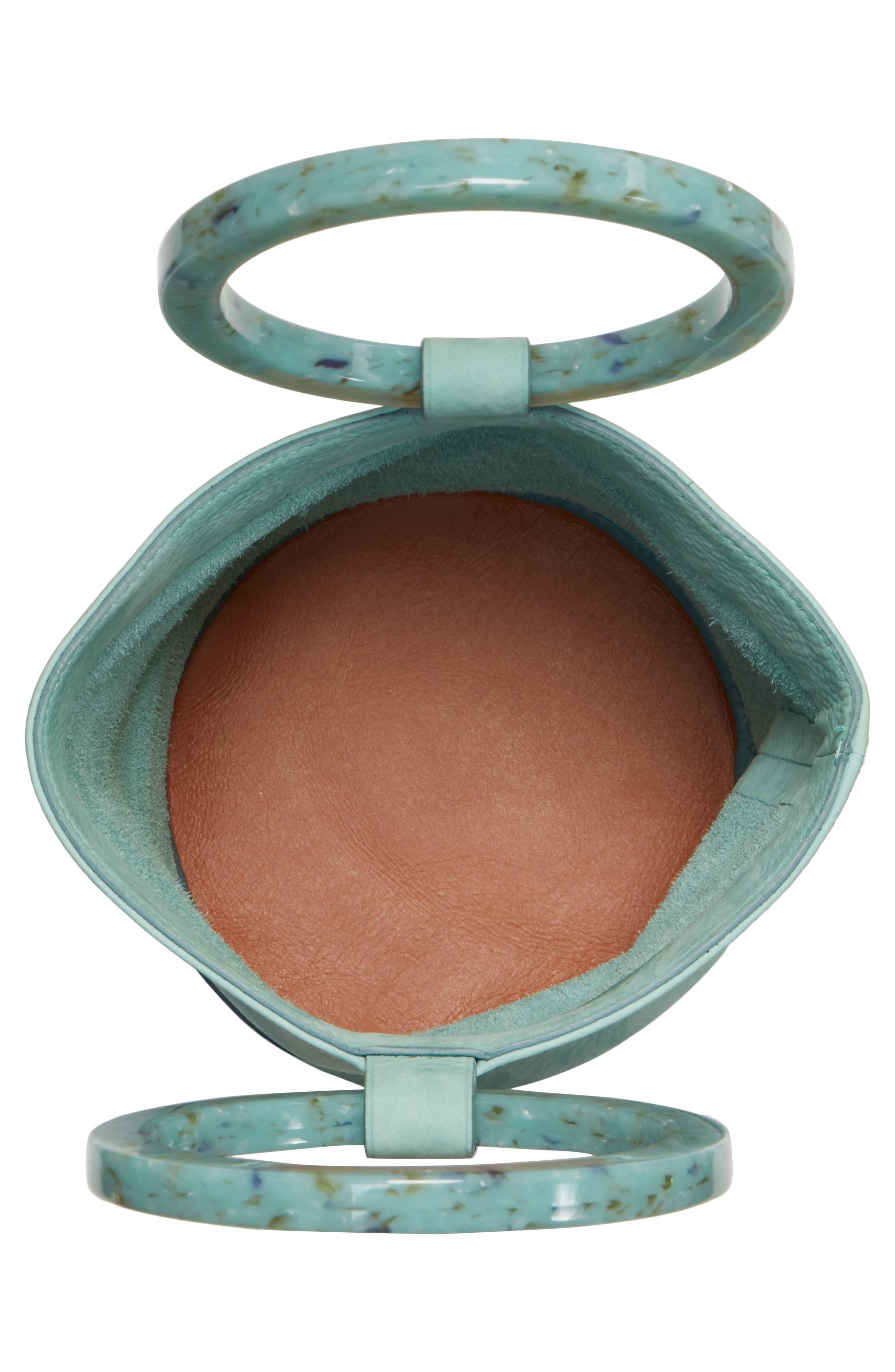 Bonsai 20 Pebbled Leather Bucket Bag,                             Alternate thumbnail 4, color,                             Splash