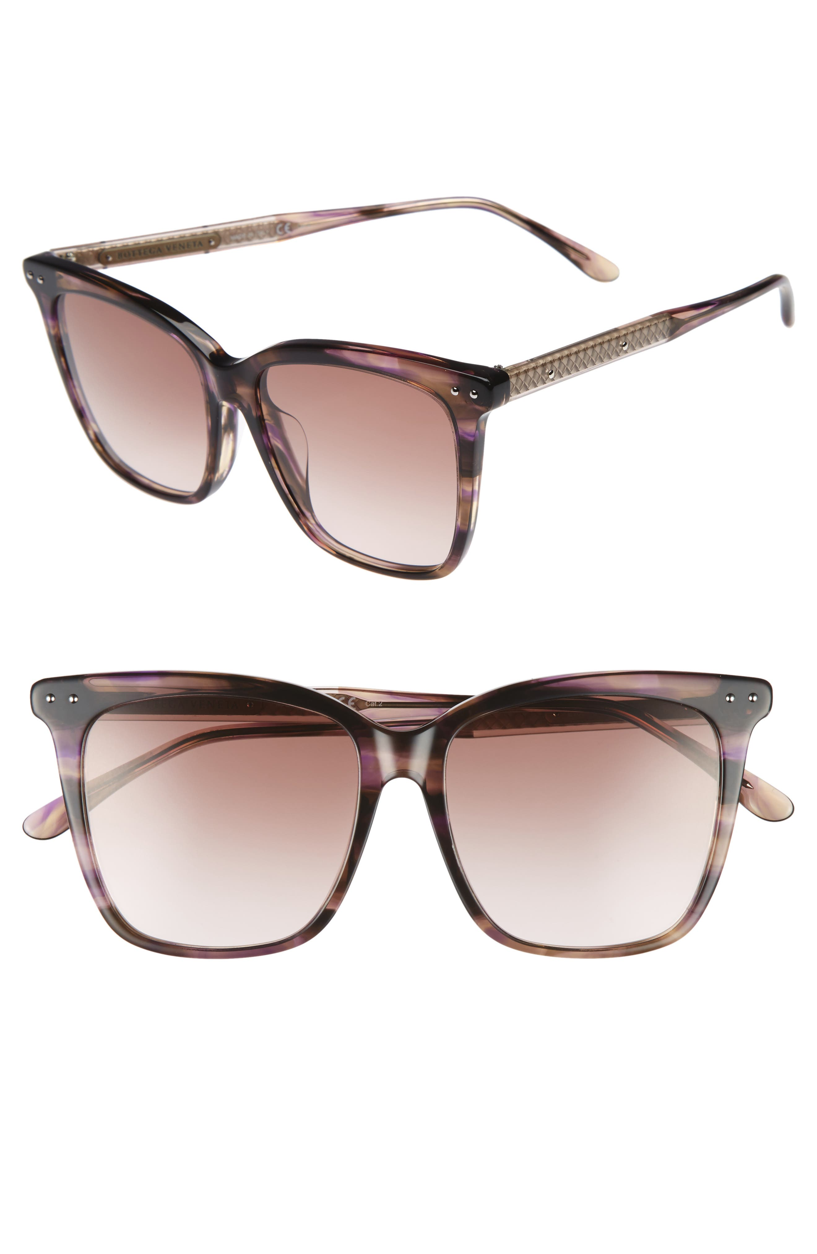 Bottega Veneta 54mm Square Sunglasses