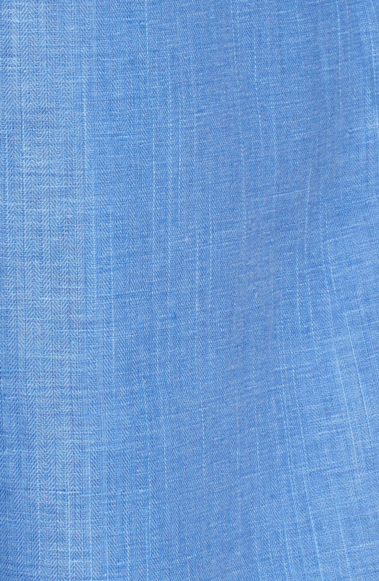 Alternate Image 5  - Peter Millar Harkers Regular Fit Herringbone Sport Shirt
