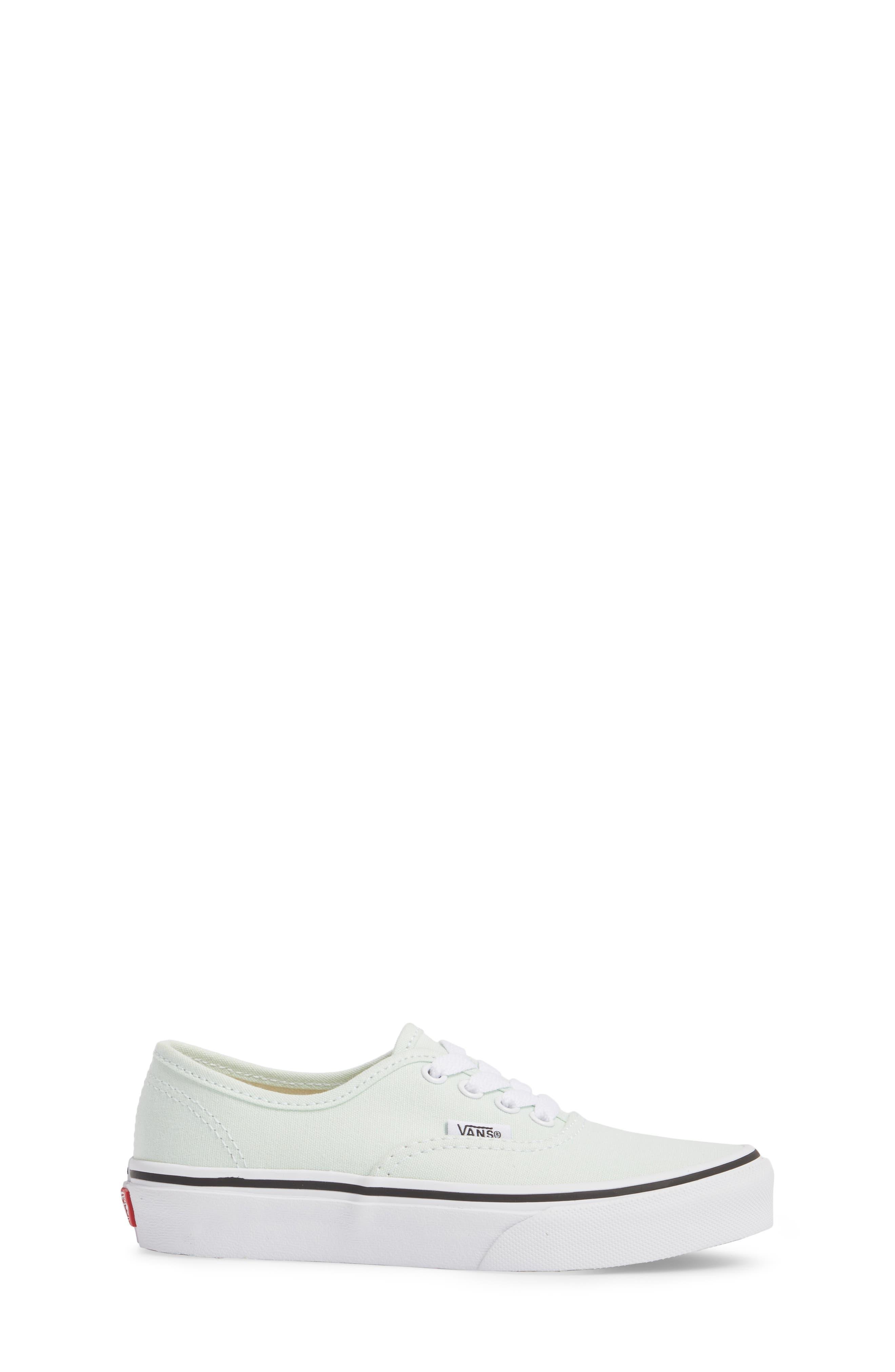 Authentic Sneaker,                             Alternate thumbnail 3, color,                             Aqua Glass/ True White