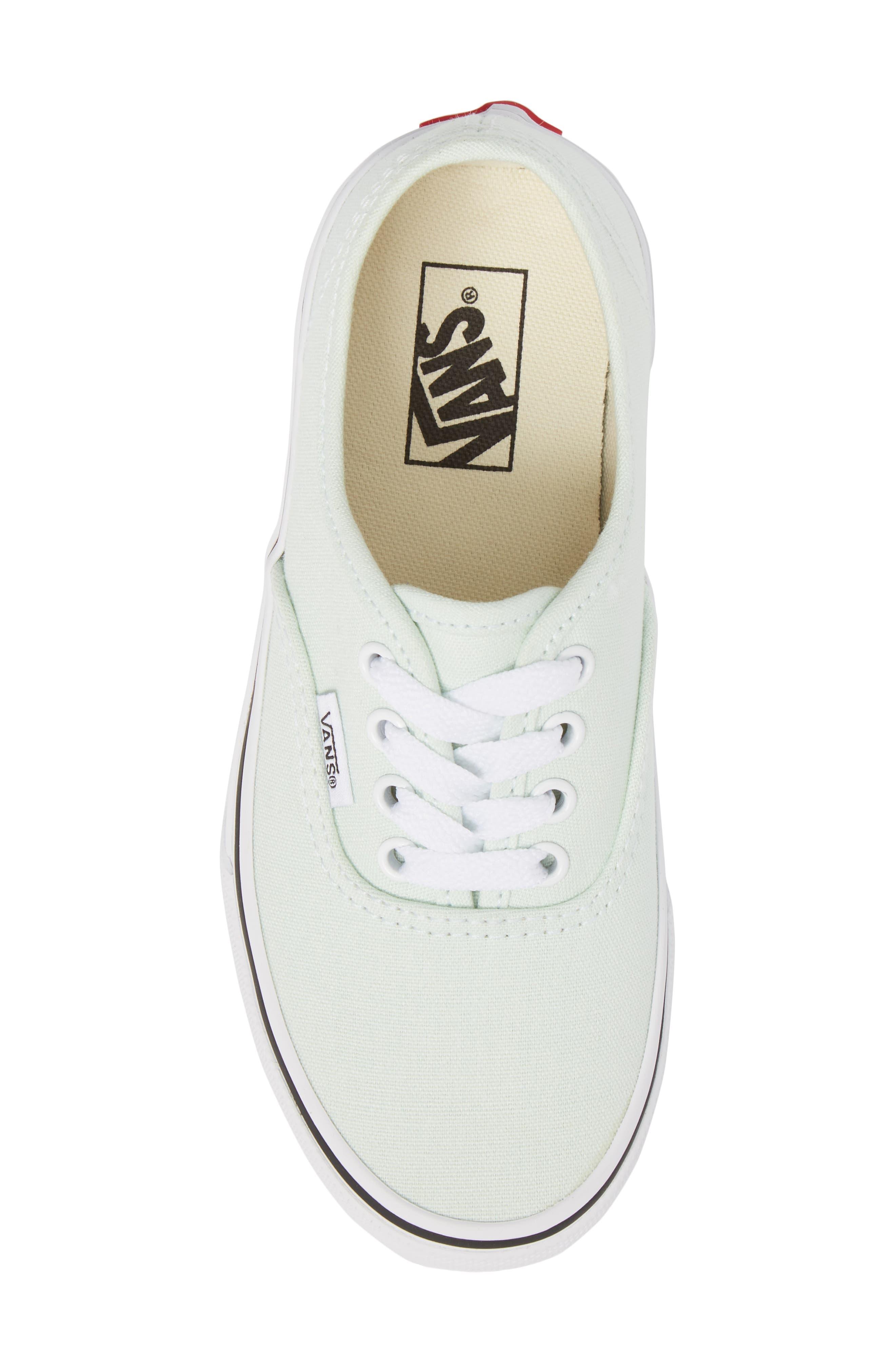 Authentic Sneaker,                             Alternate thumbnail 5, color,                             Aqua Glass/ True White