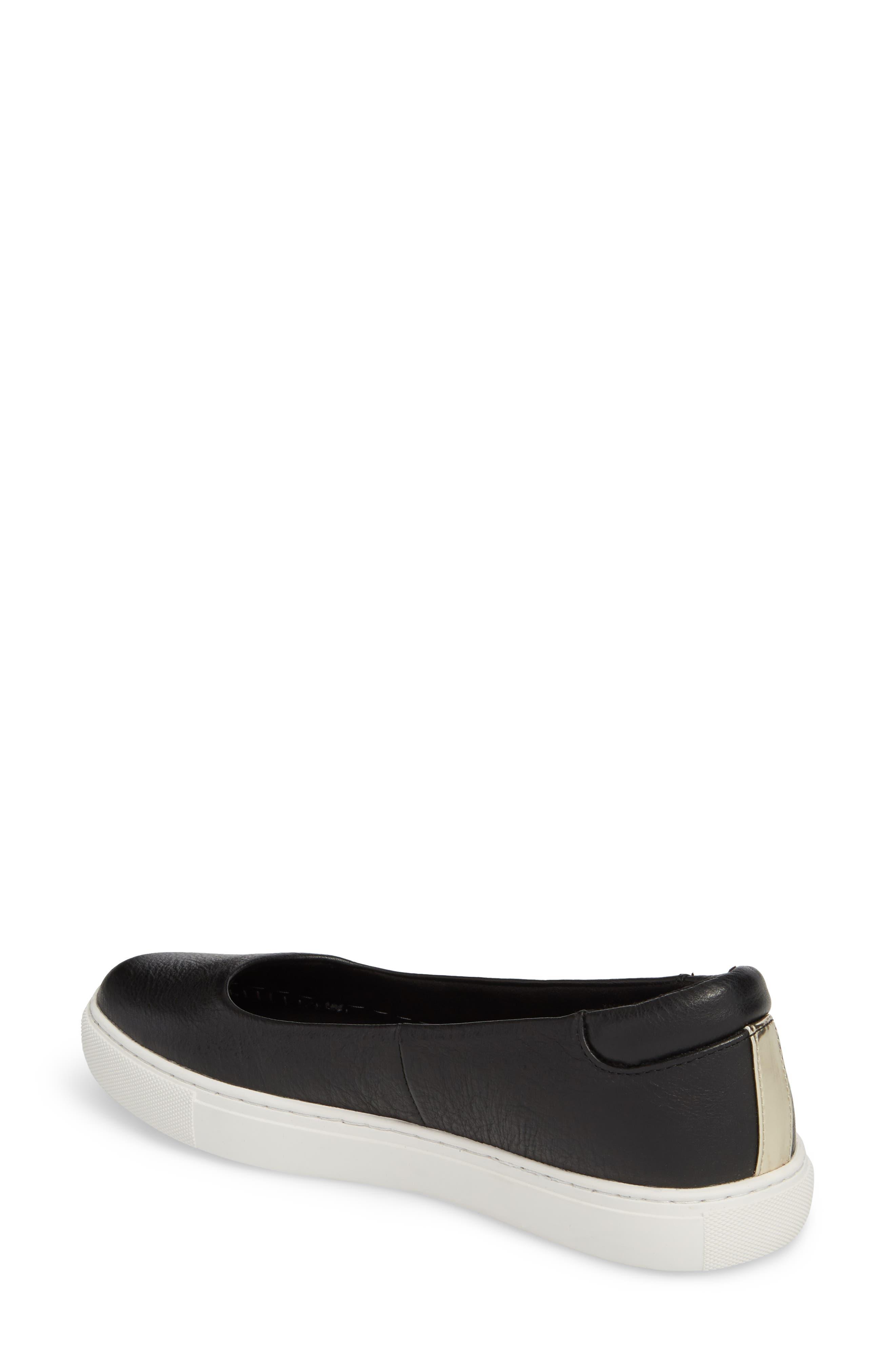 Kassie Flat,                             Alternate thumbnail 2, color,                             Black Leather