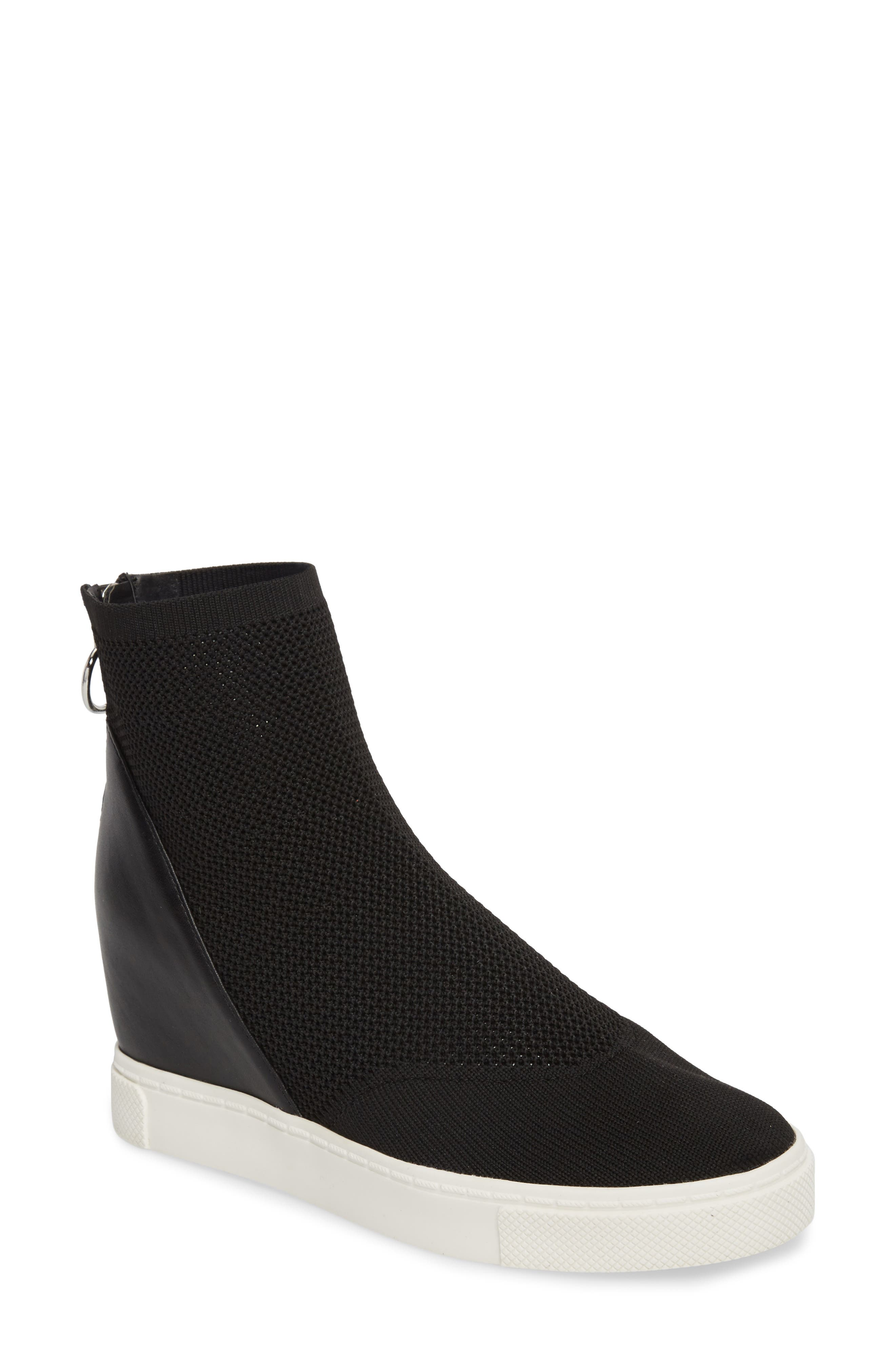 Lizzy Sneaker Bootie,                             Main thumbnail 1, color,                             Black