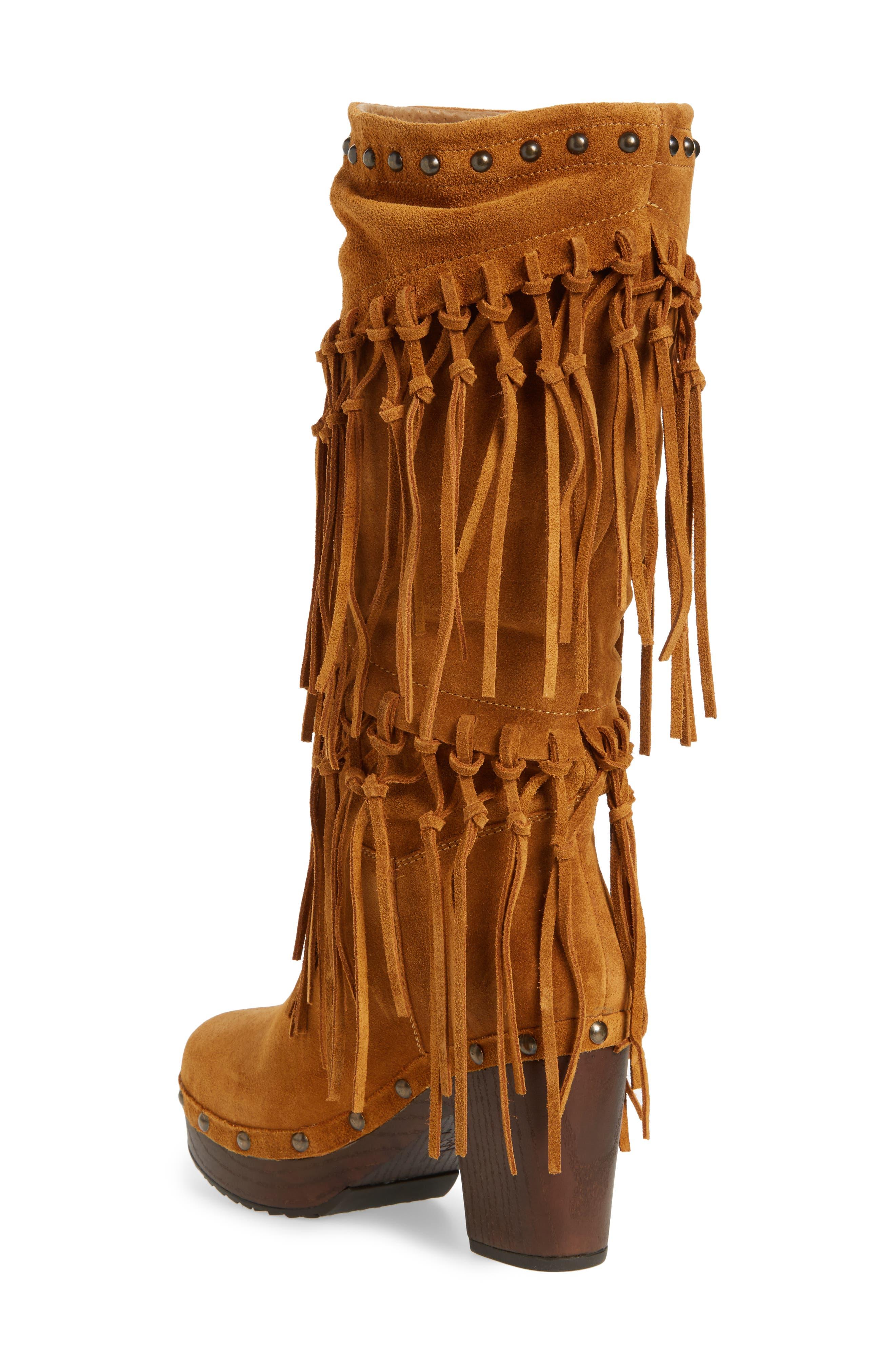 Music Row Fringe Boot,                             Alternate thumbnail 2, color,                             Wheat Fields