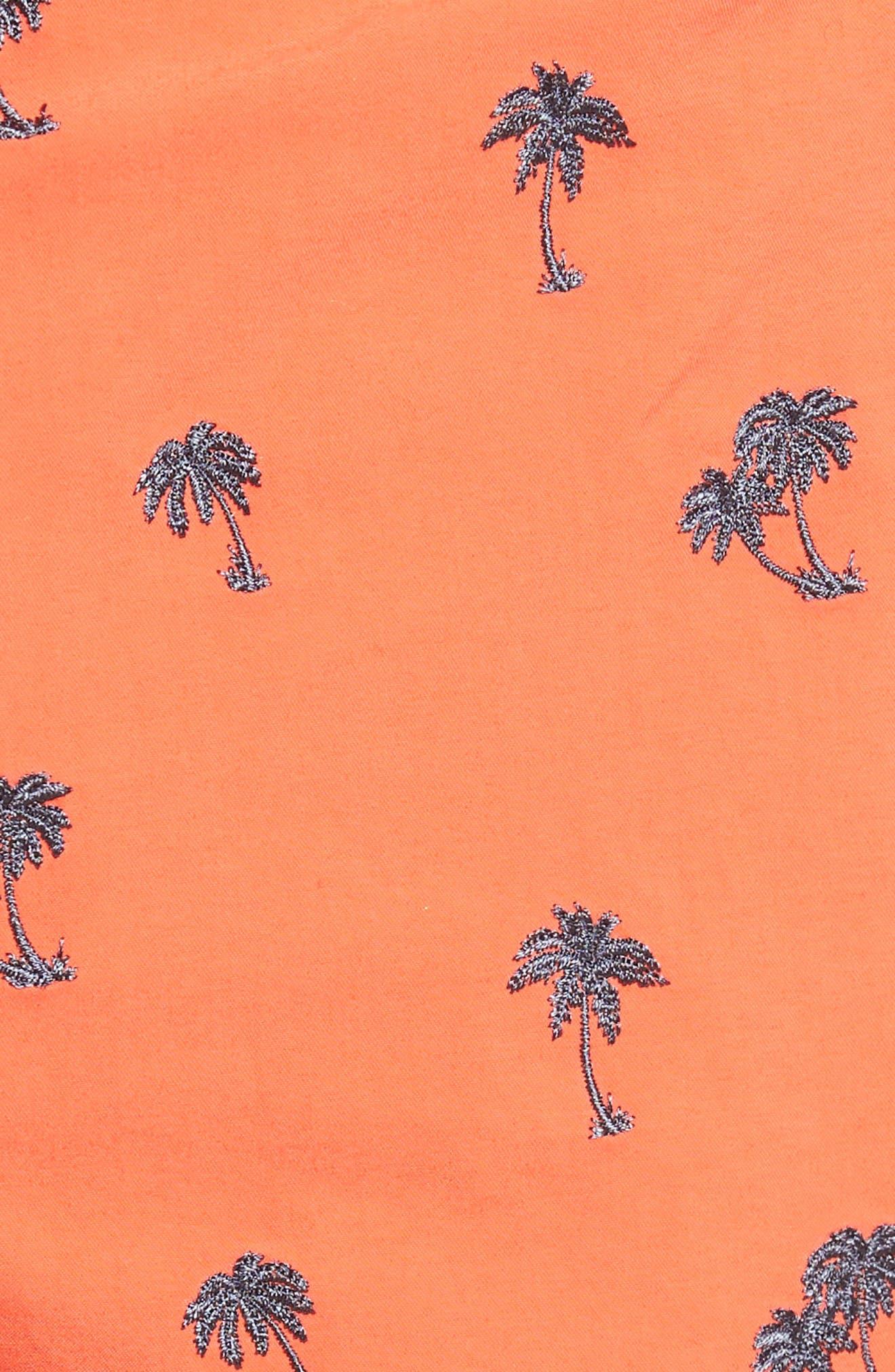 White Shark Swim Trunks,                             Alternate thumbnail 5, color,                             Pink
