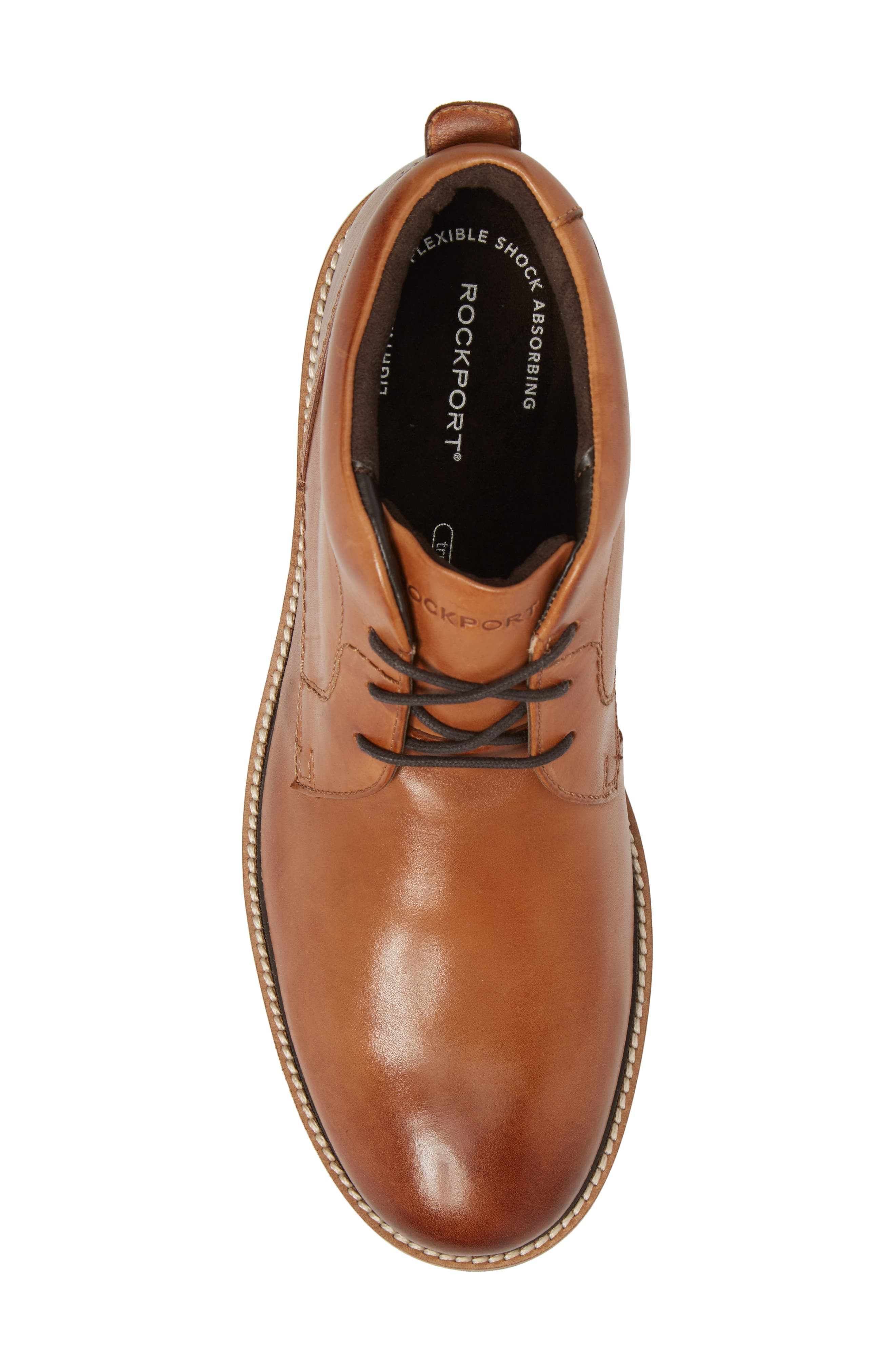 Marshall Chukka Boot,                             Alternate thumbnail 5, color,                             Cognac Leather