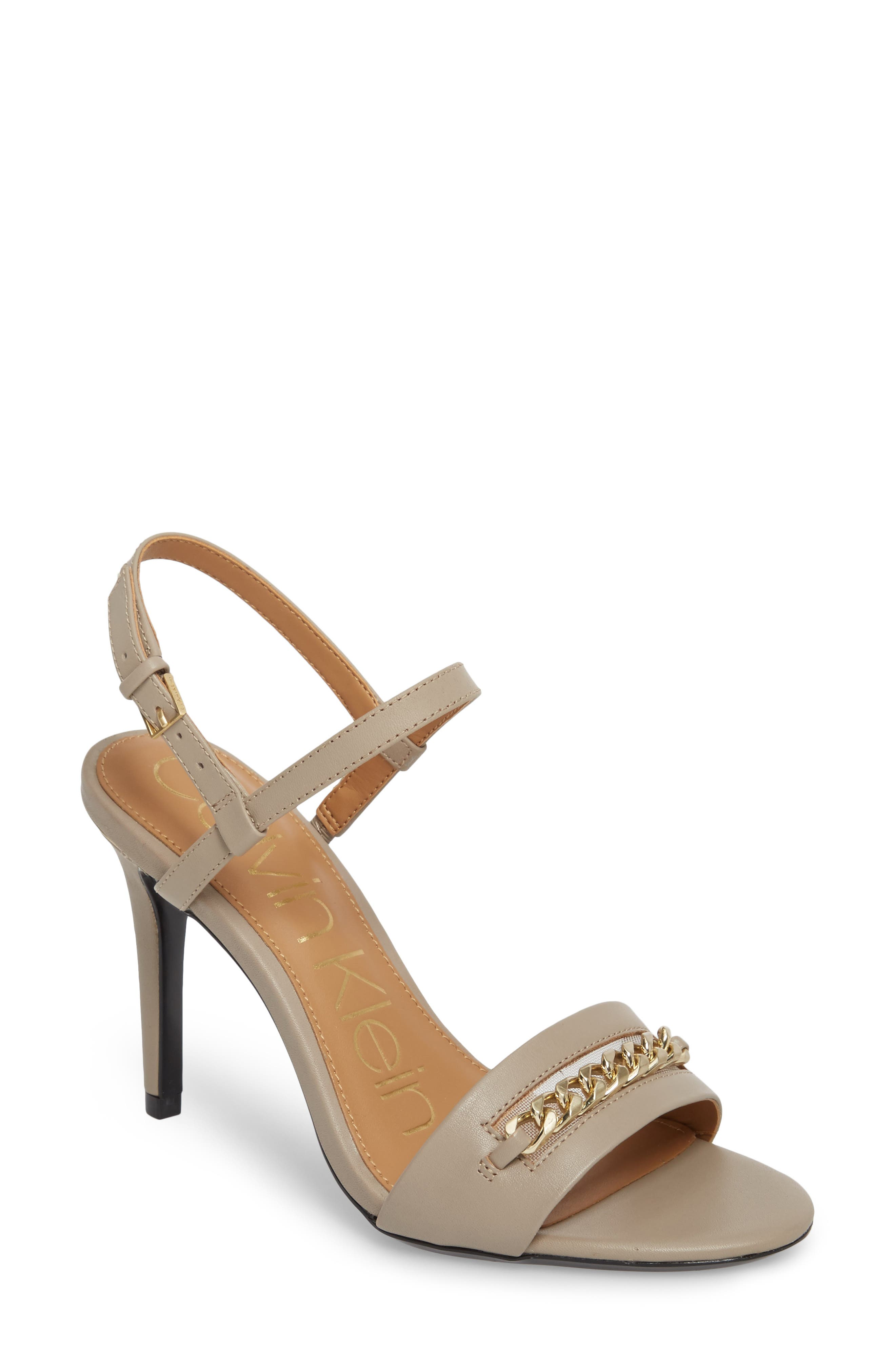 Nori Sandal,                         Main,                         color, Clay Leather