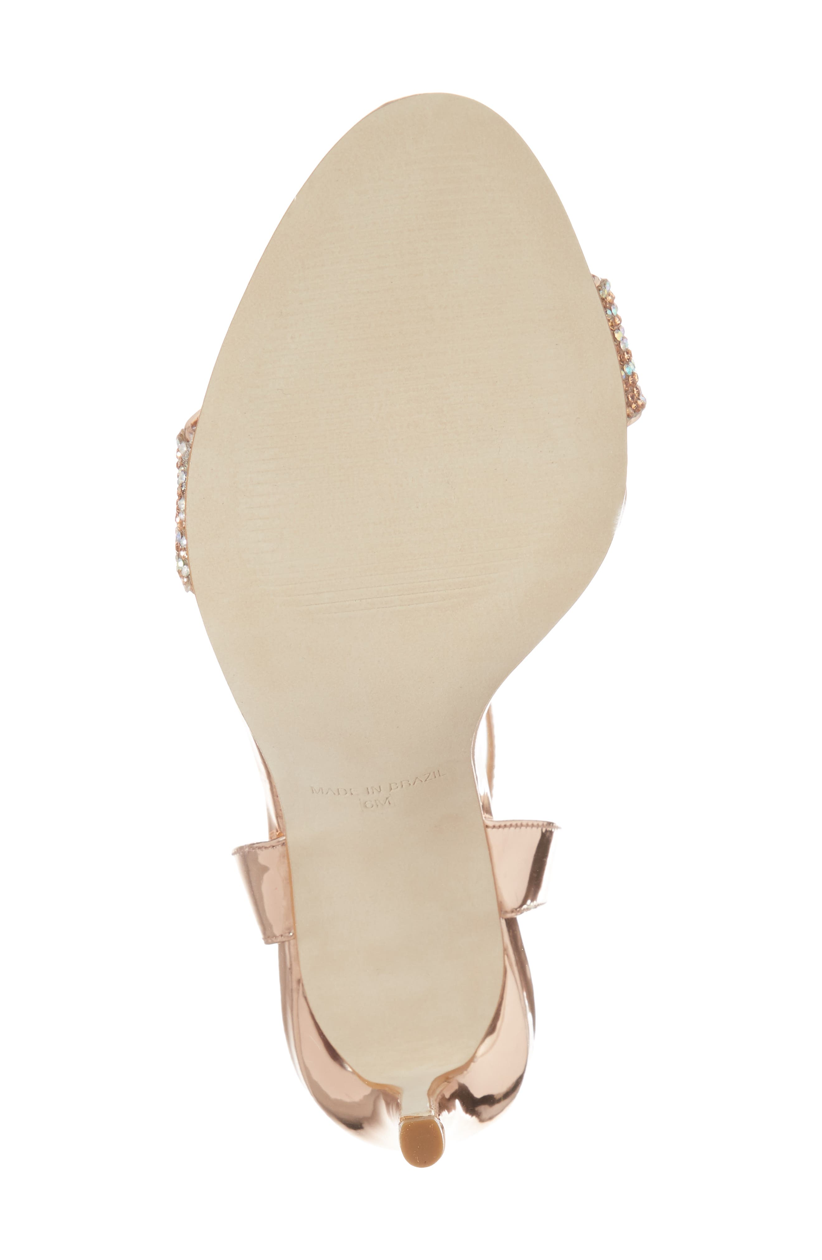 Leona Sandal,                             Alternate thumbnail 6, color,                             Rose Gold Leather
