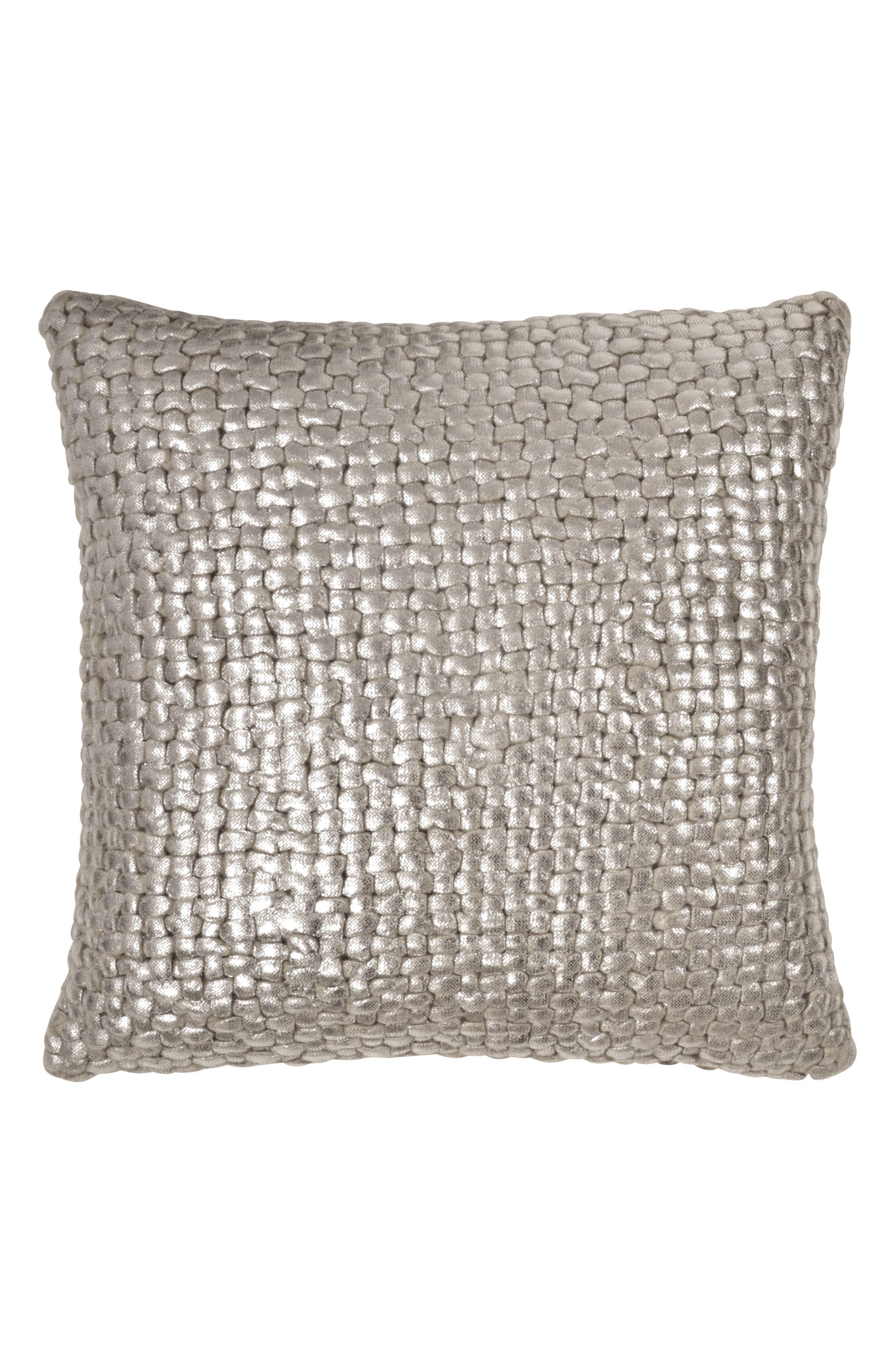 Alternate Image 1 Selected - Michael Aram Metallic Basket Weave Accent Pillow