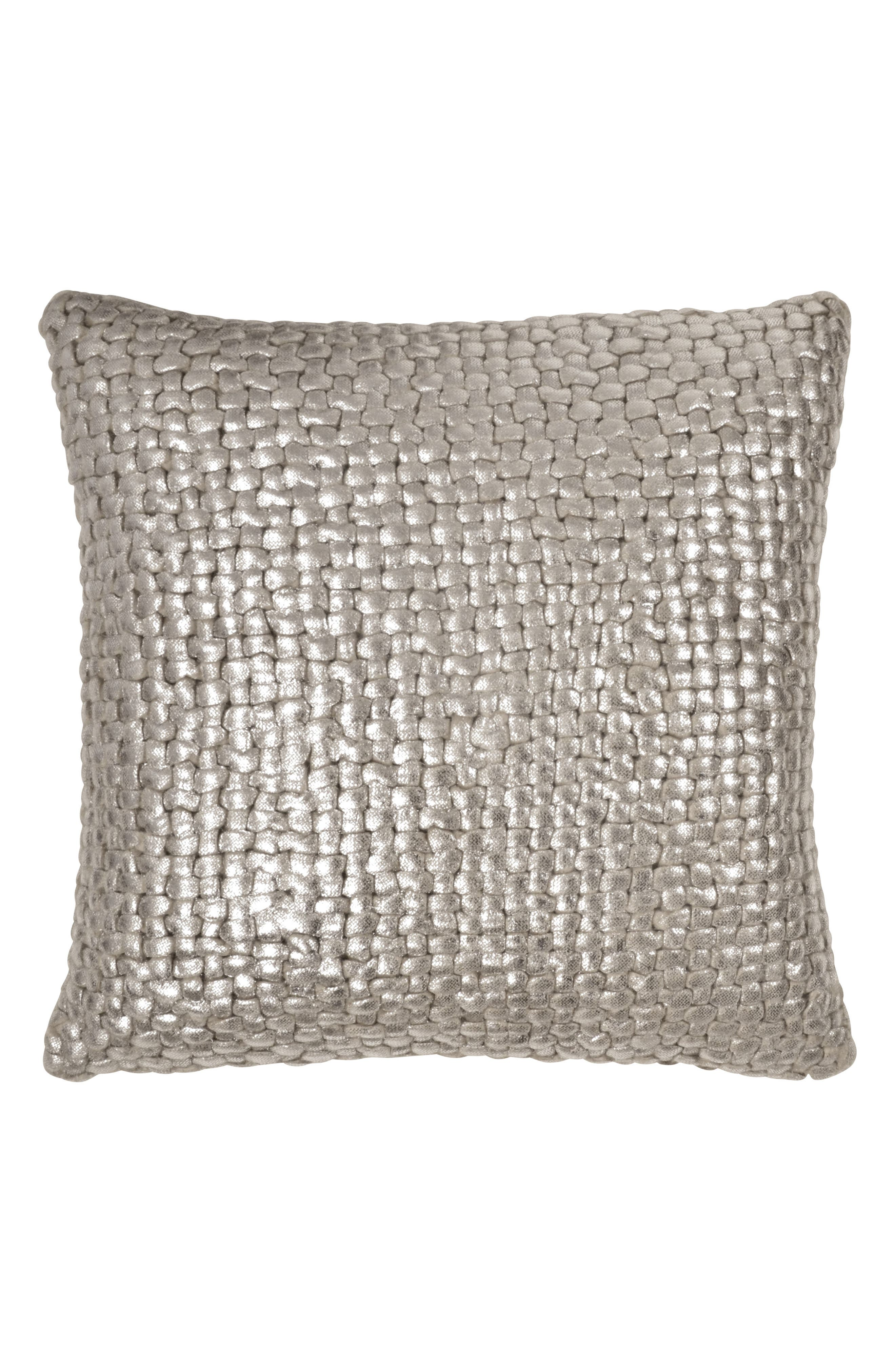 Main Image - Michael Aram Metallic Basket Weave Accent Pillow