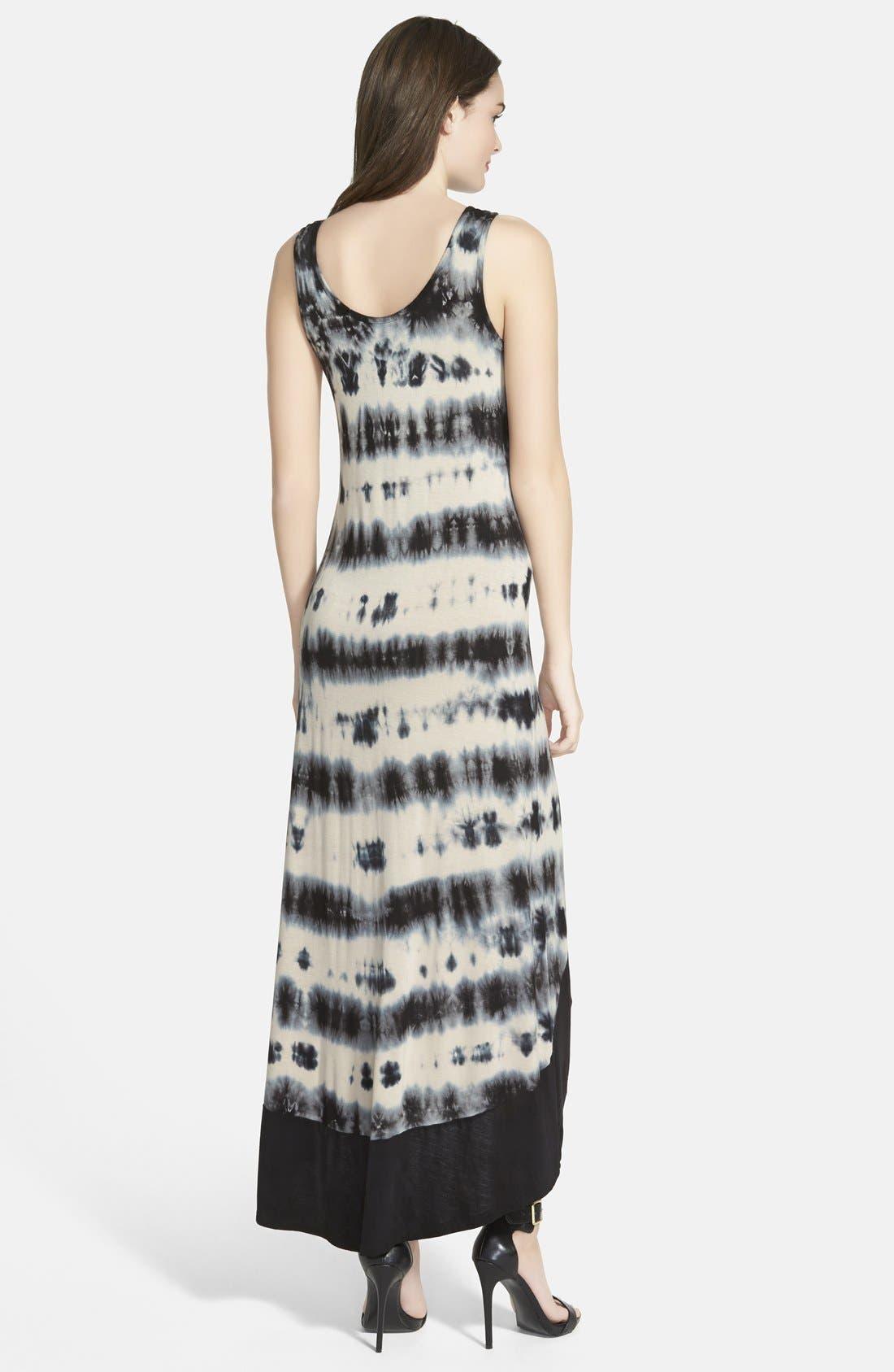 Alternate Image 2  - kensie Tie Dye High-Low Maxi Dress