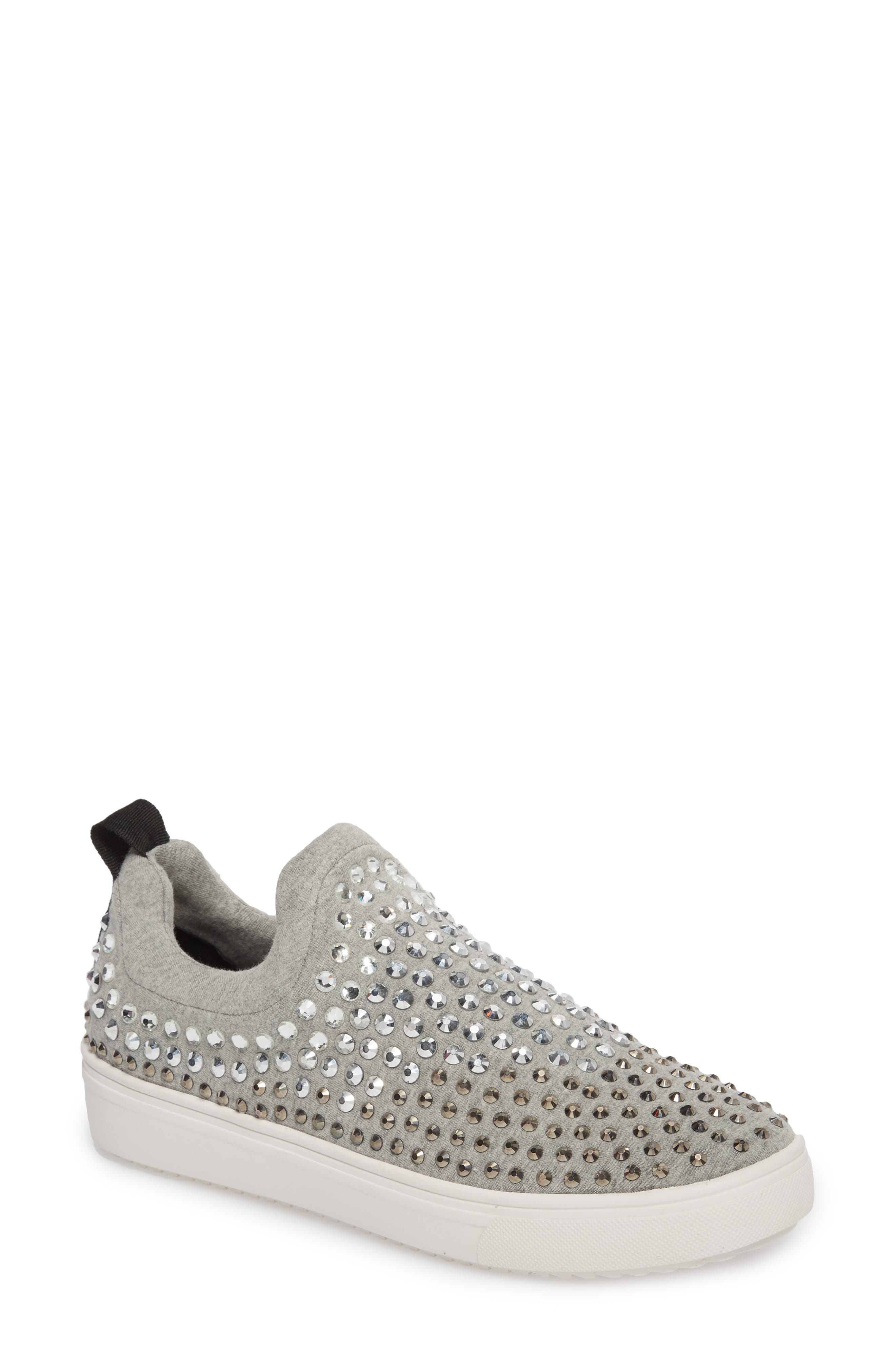 Alternate Image 1 Selected - Steve Madden Sherry Crystal Embellished Sneaker (Women)