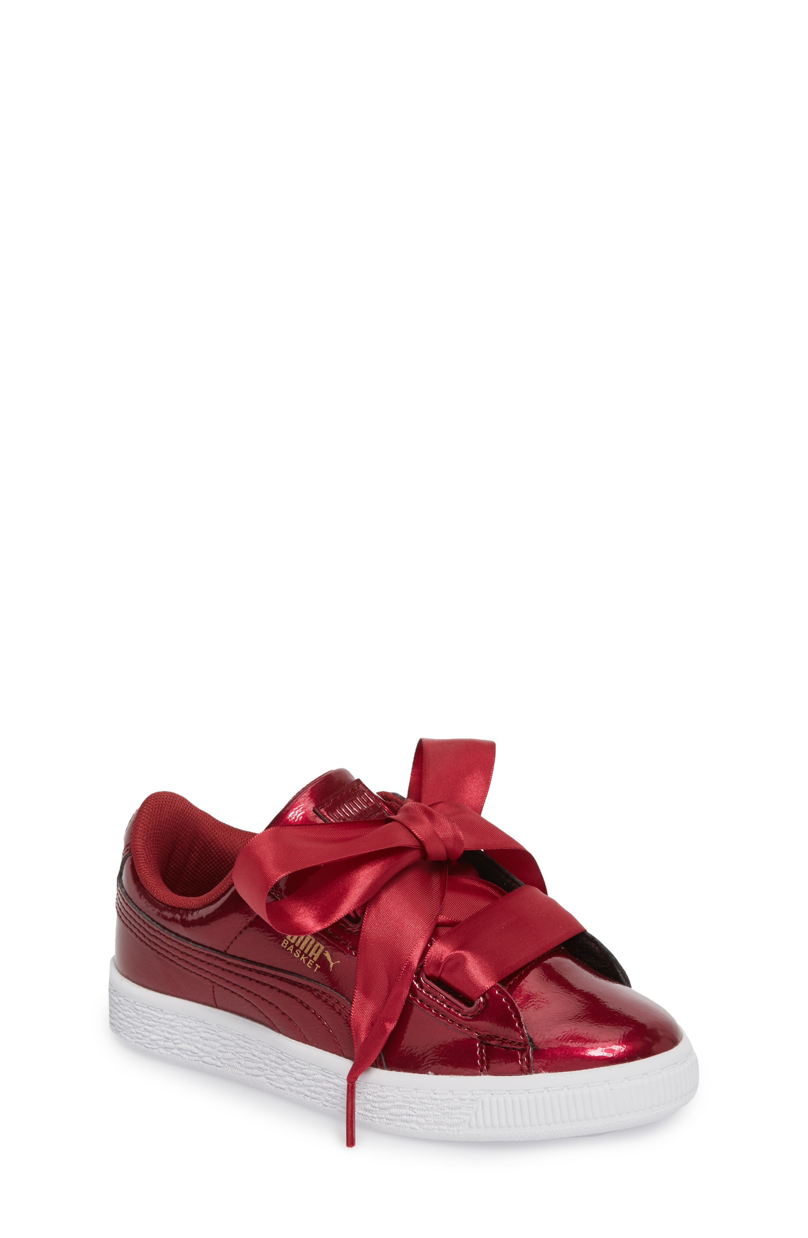 Alternate Image 1 Selected - PUMA Basket Heart Glam Sneaker (Baby, Walker, Toddler, Little Kid & Big Kid)