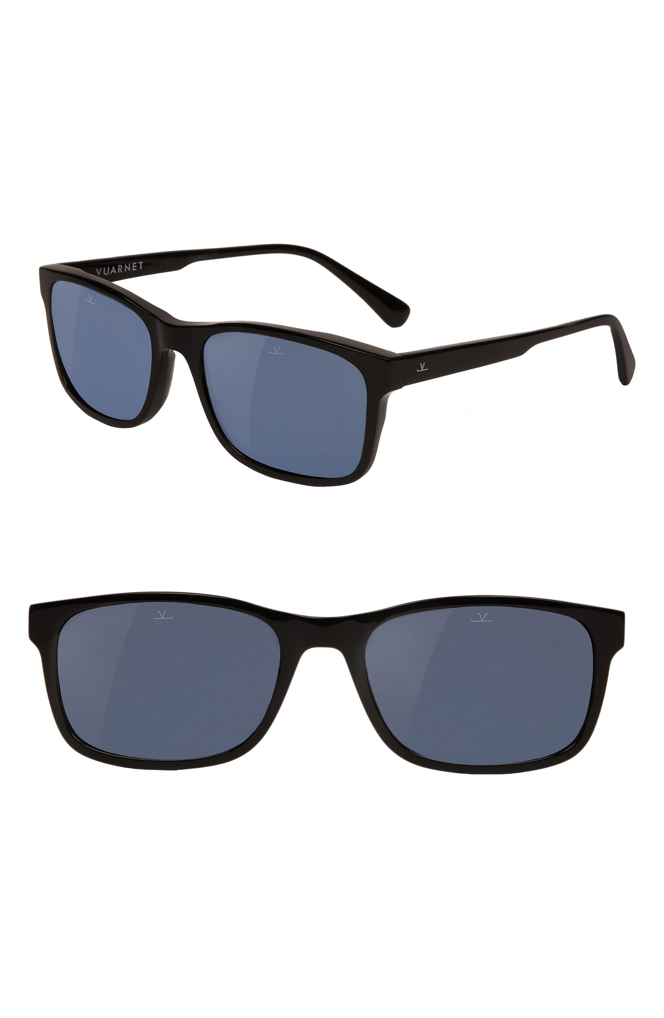 District Medium 55mm Polarized Sunglasses,                         Main,                         color, Blue Polar