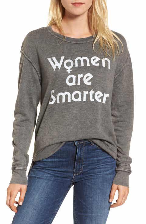 Junk Food Women Are Smarter Sweatshirt