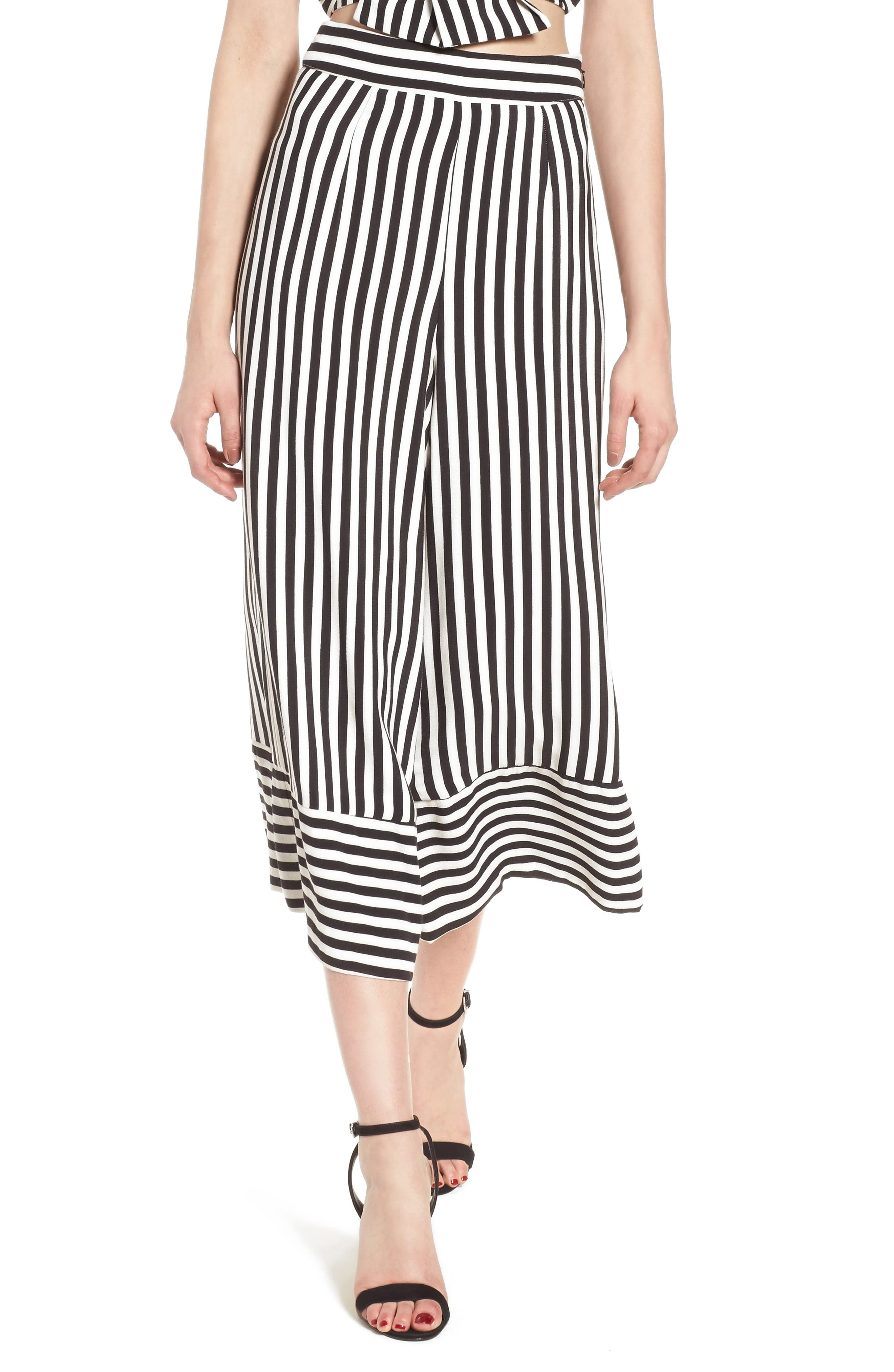 Chica Crop Pants,                         Main,                         color, Bold Stripe