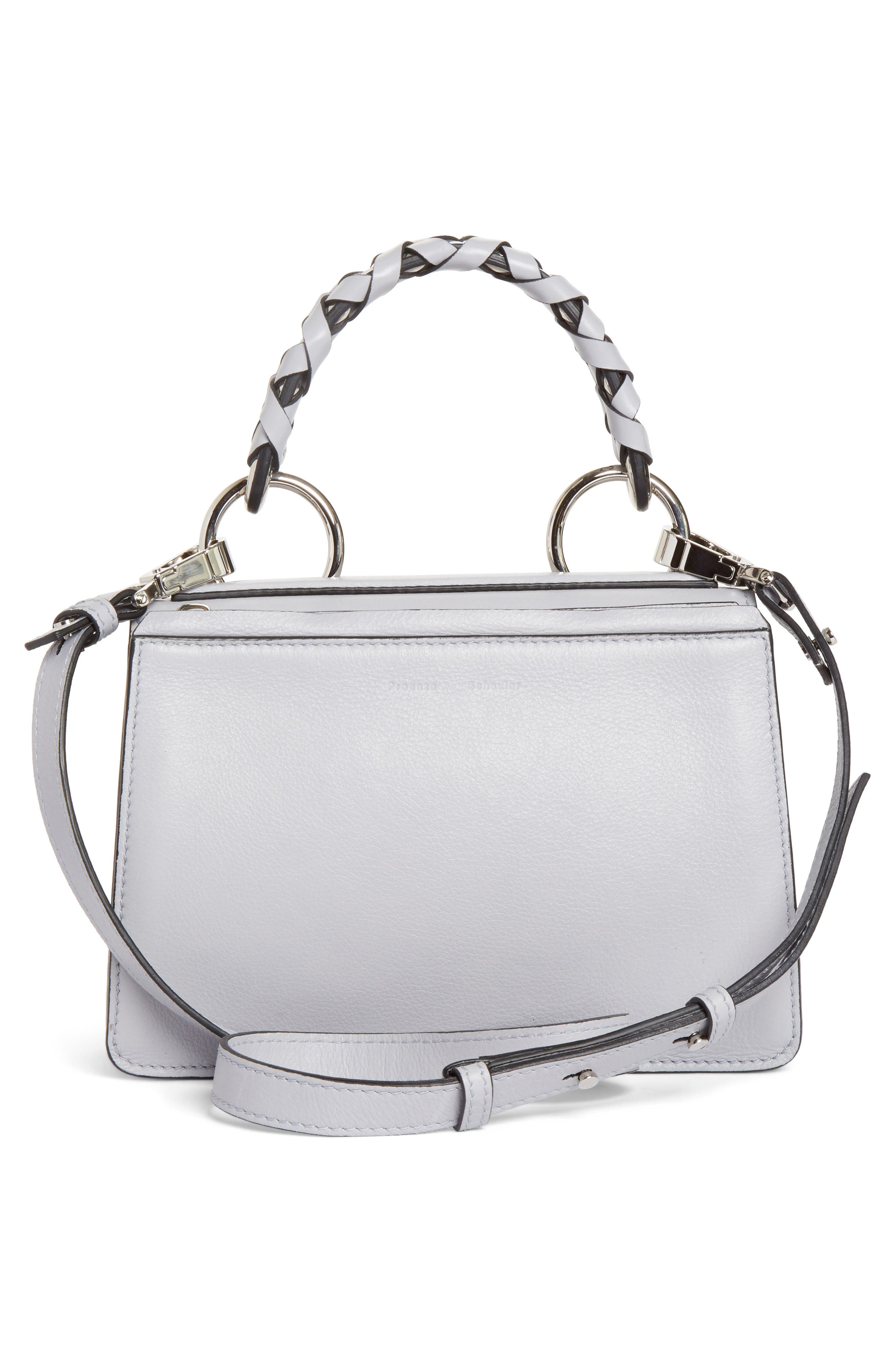 Small Hava Top Handle Leather Satchel,                             Alternate thumbnail 2, color,                             Dove Grey