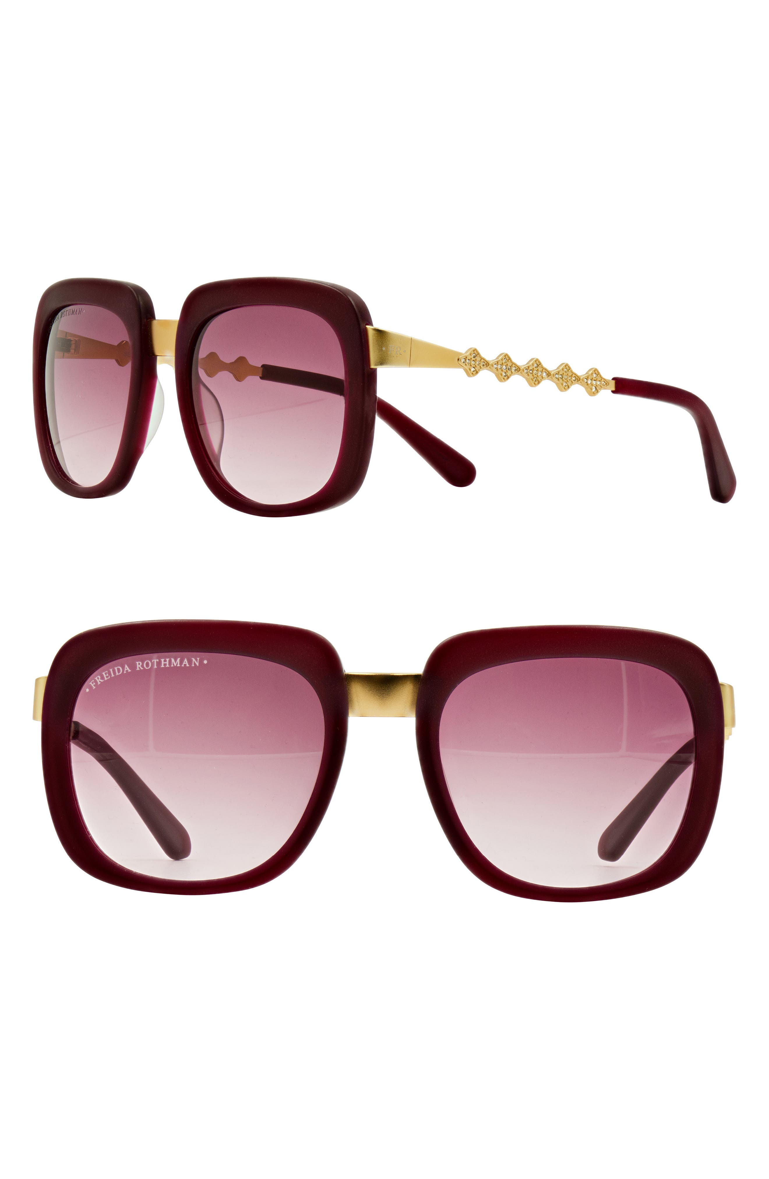 Main Image - Freida Rothman 'Serena' 57mm Square Sunglasses