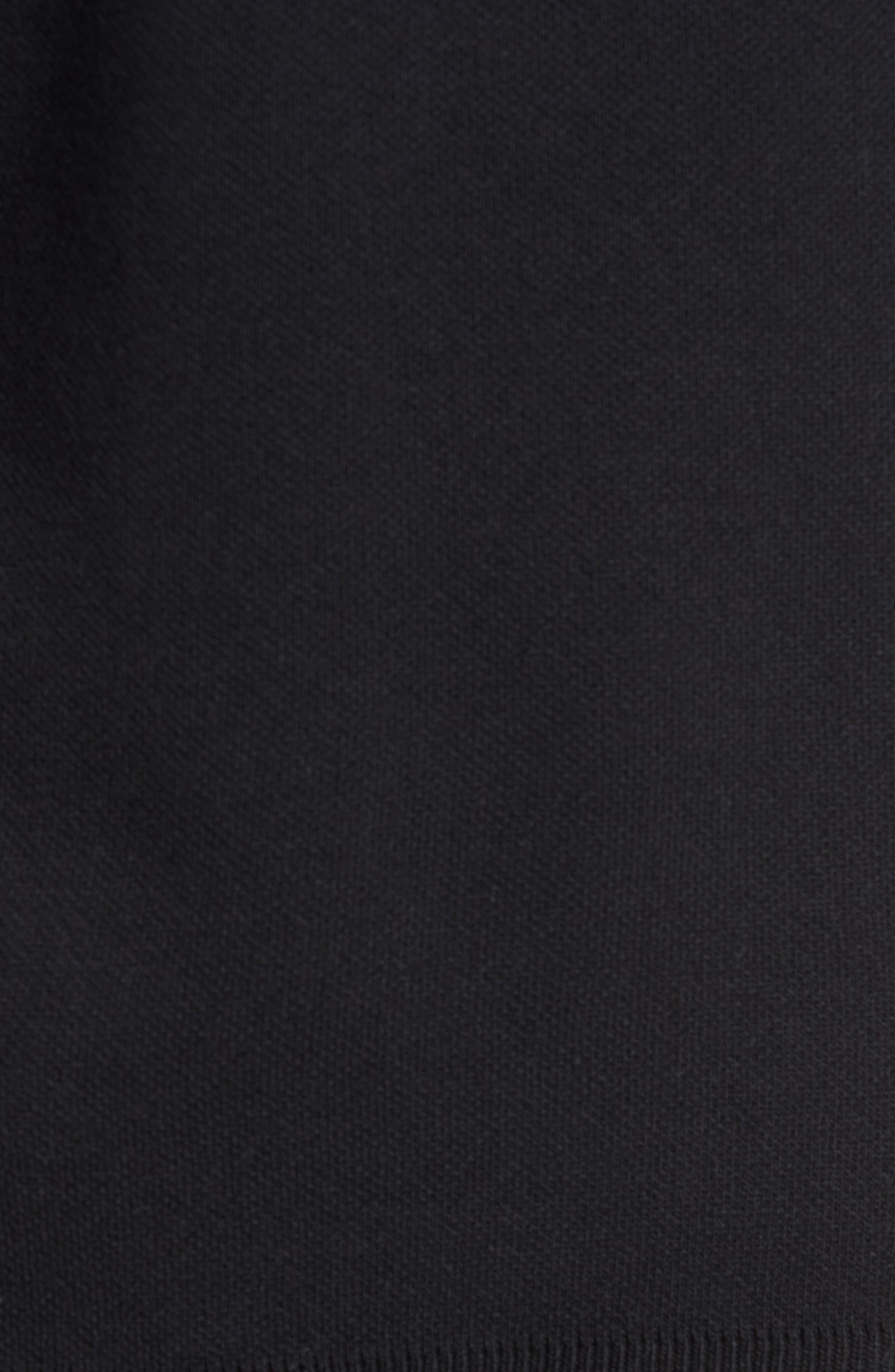 Lakra Regular Fit Half Zip Pullover,                             Alternate thumbnail 5, color,                             Black/Milk/Black