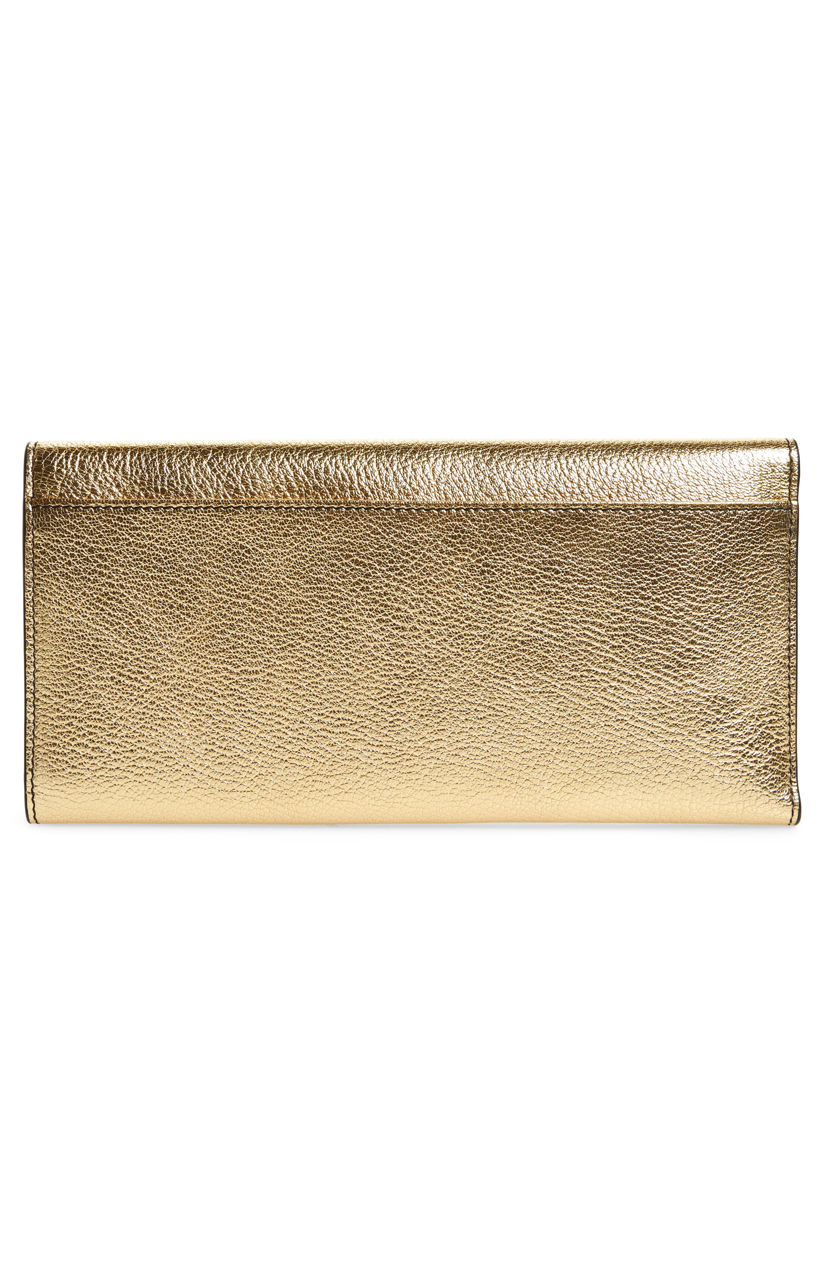 Leather Travel Wallet,                             Alternate thumbnail 4, color,                             Sahara Gold