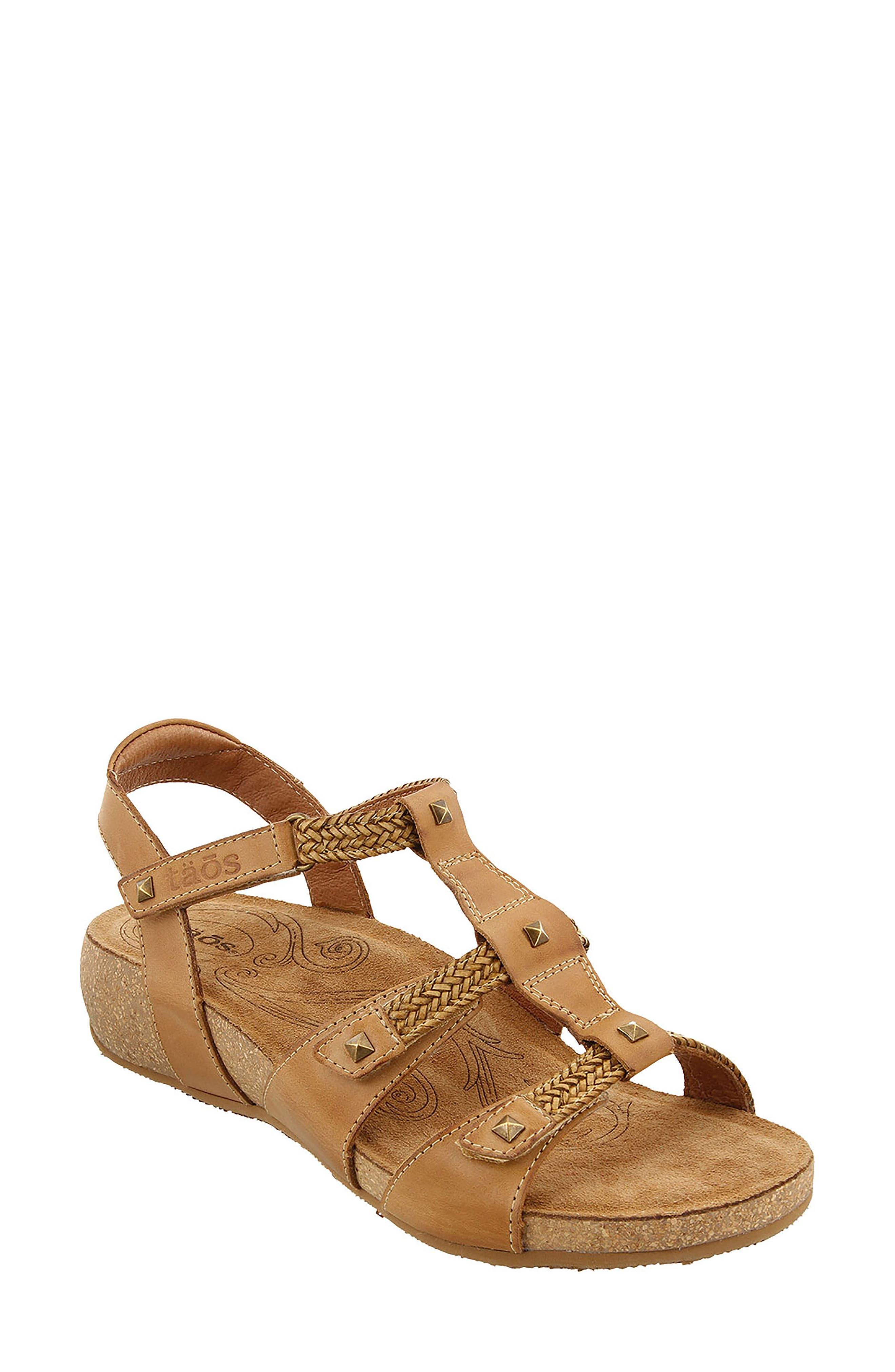 Eleanor Sandal,                         Main,                         color, Camel Leather