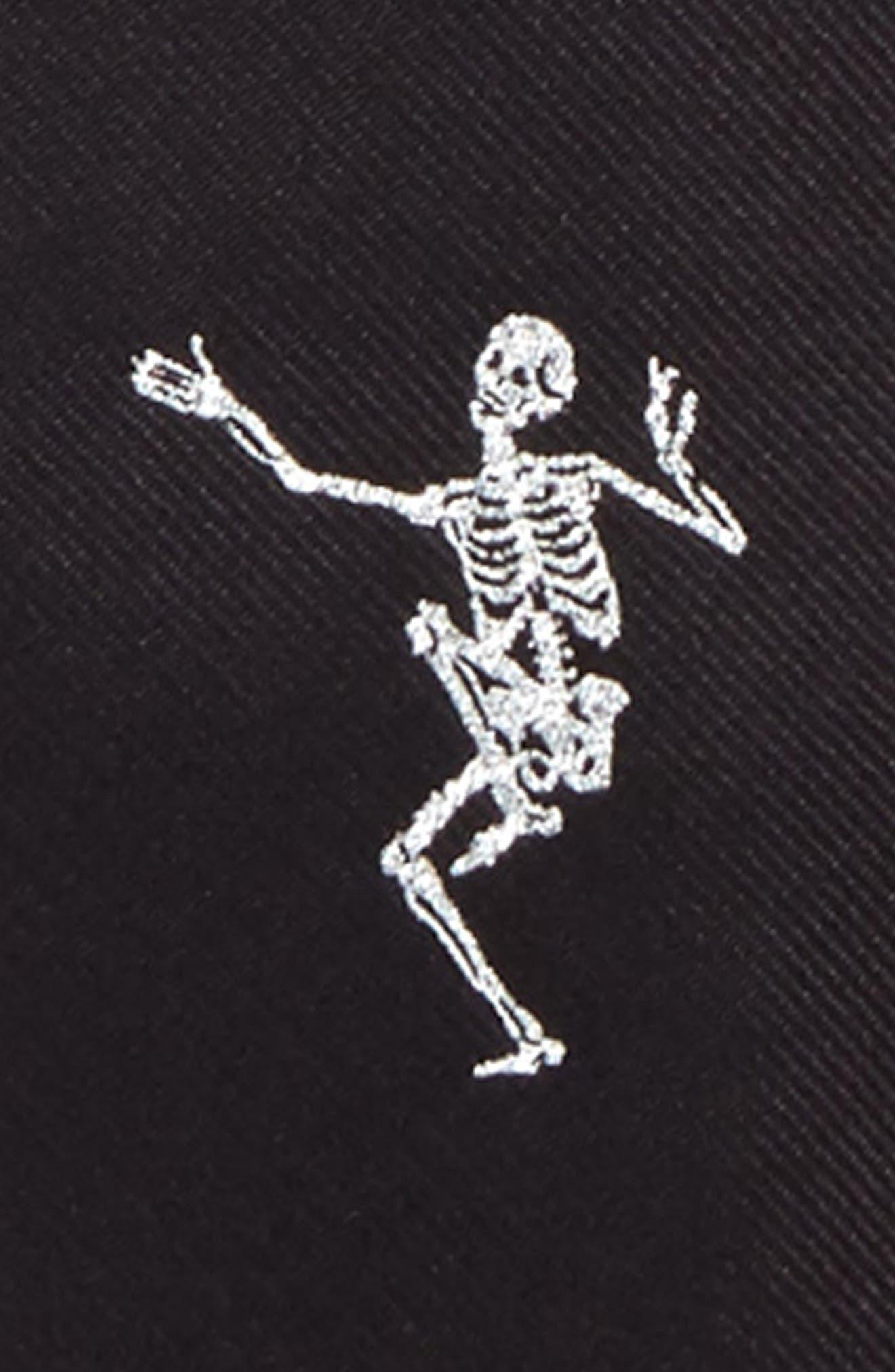Alternate Image 2  - Alexander McQueen Dancing Skeleton Silk Tie