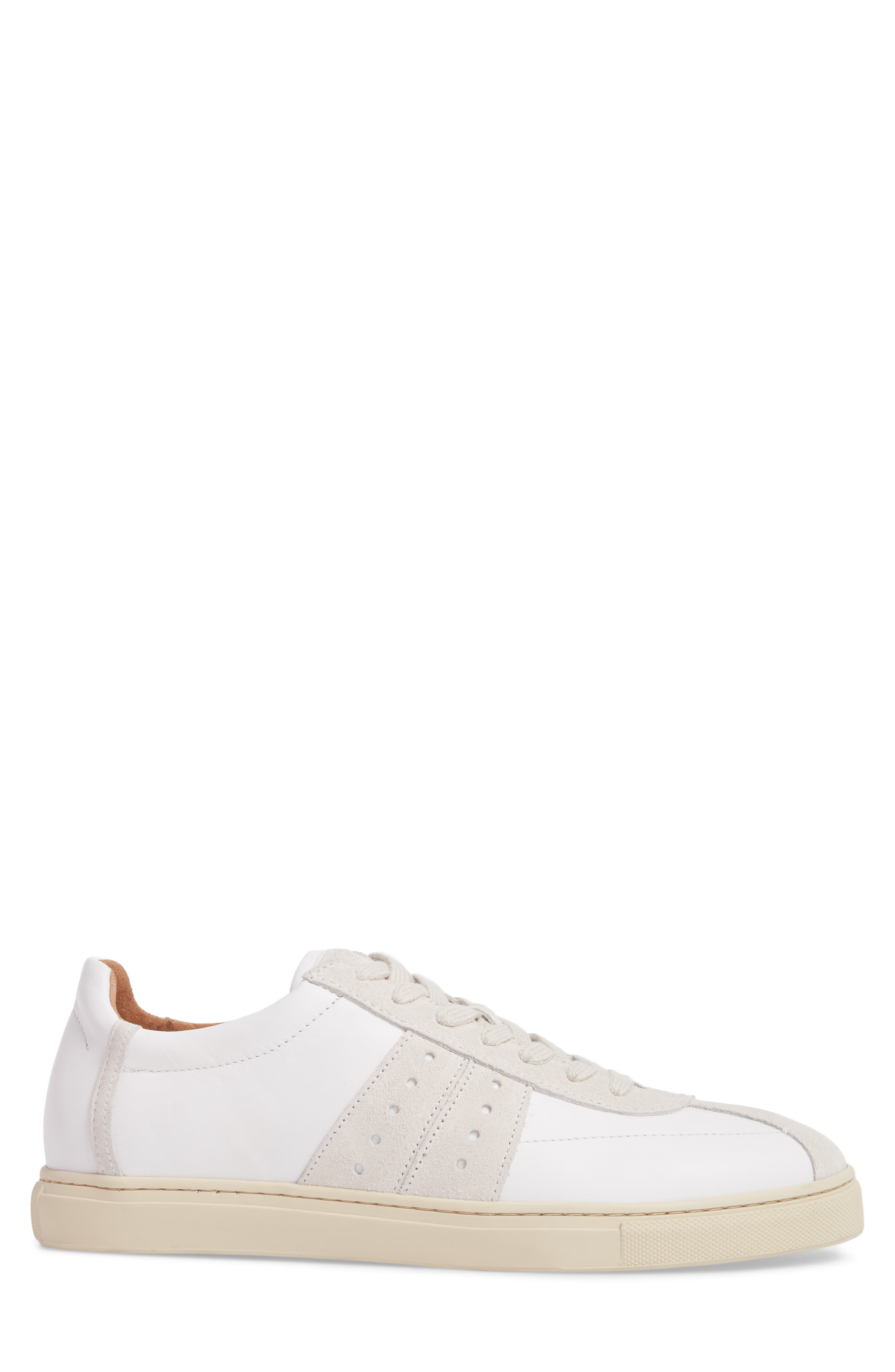 Duran New Mix Sneaker,                             Alternate thumbnail 3, color,                             White Leather/ Suede