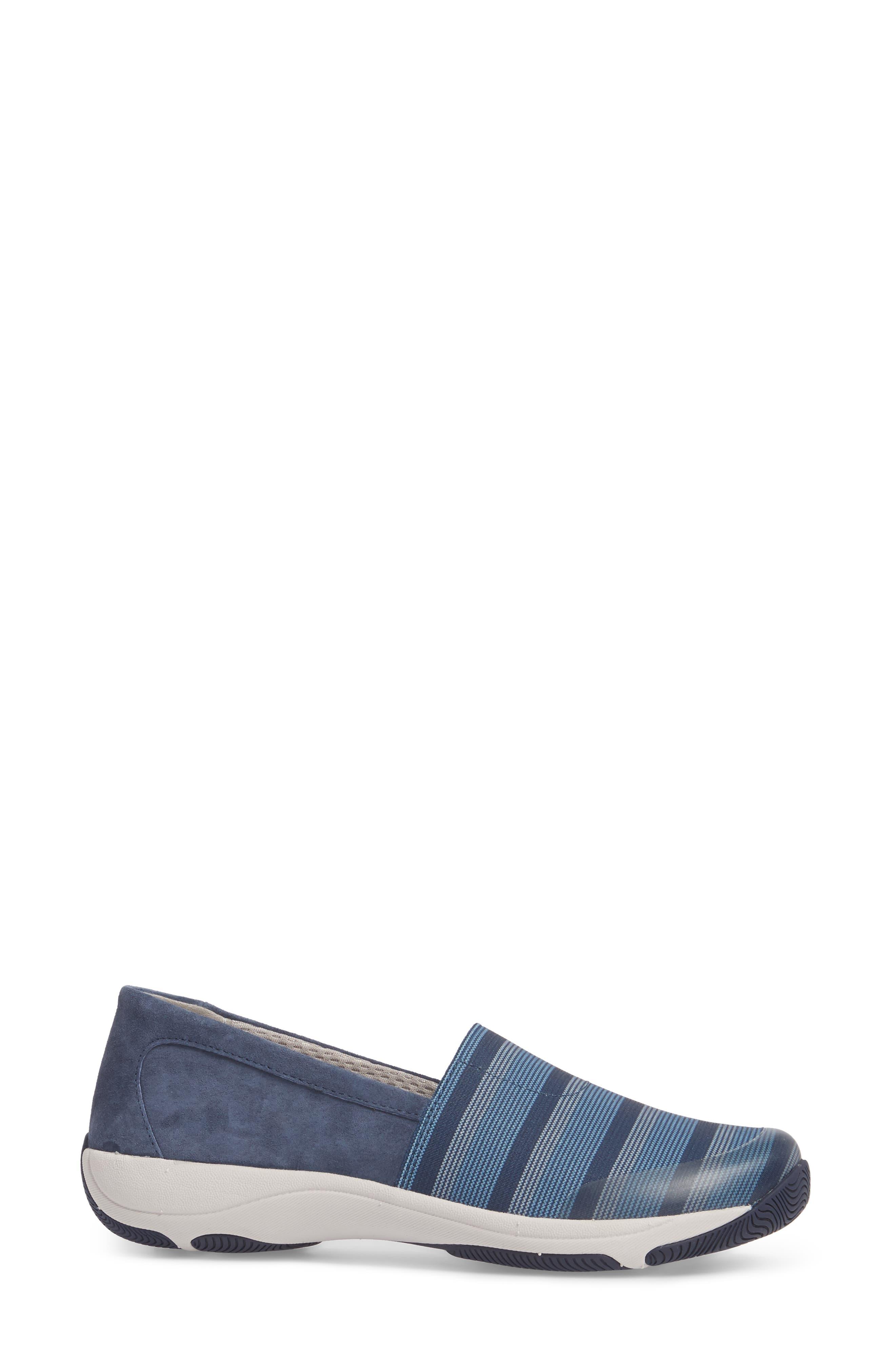 Harriet Slip-On Sneaker,                             Alternate thumbnail 3, color,                             Blue Suede