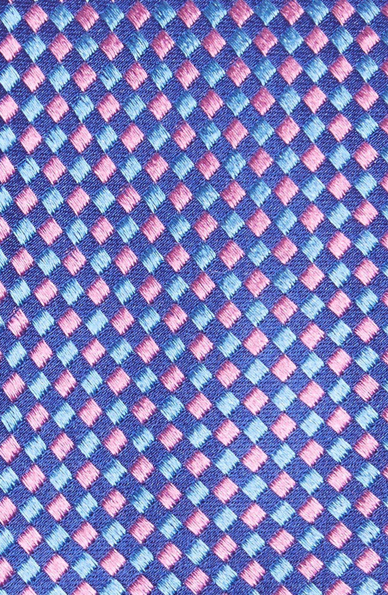 Check Silk Tie,                             Alternate thumbnail 2, color,                             Kentucky Blue