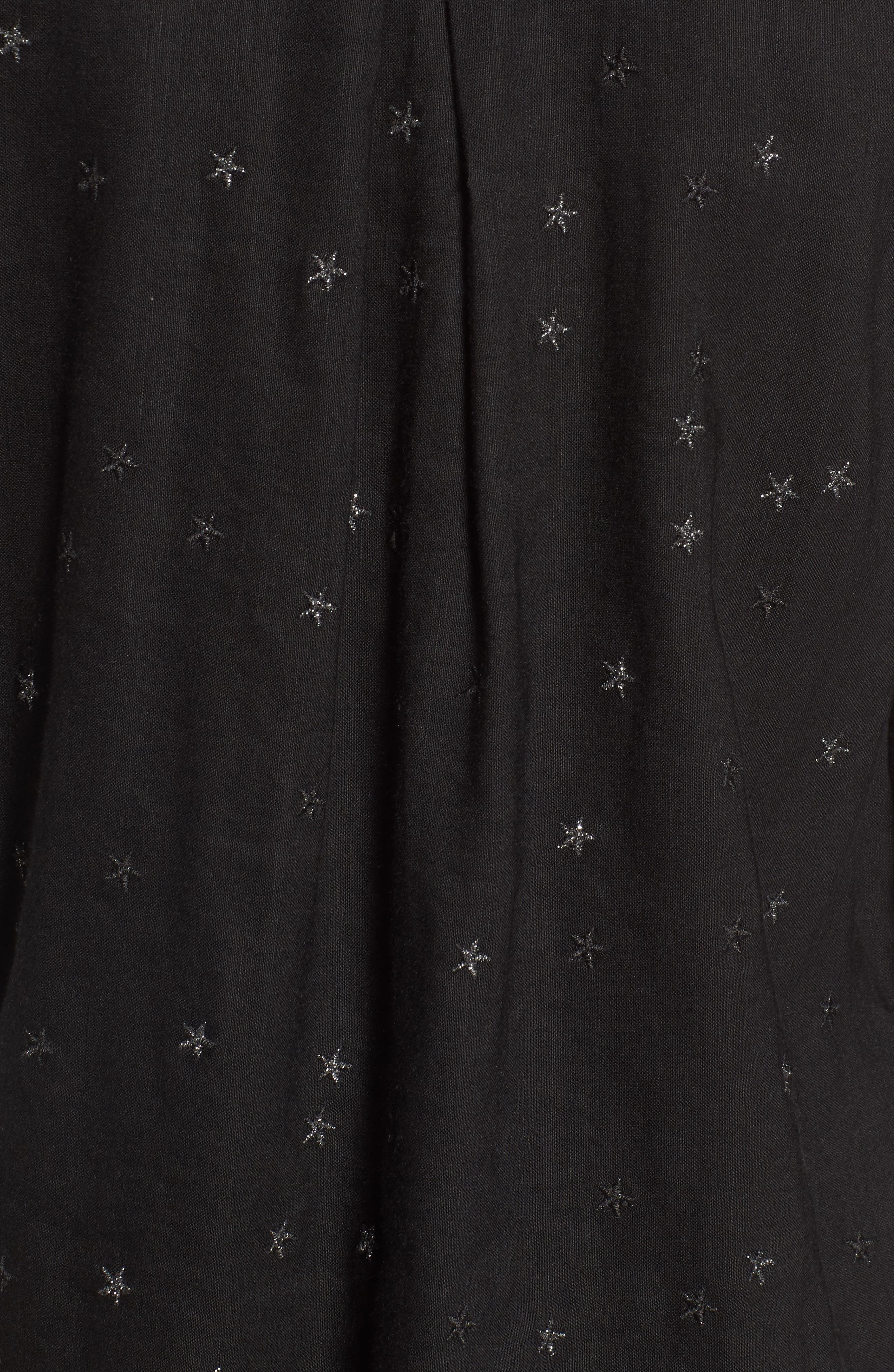 Robyn Shirt,                             Alternate thumbnail 5, color,                             Black With Stars