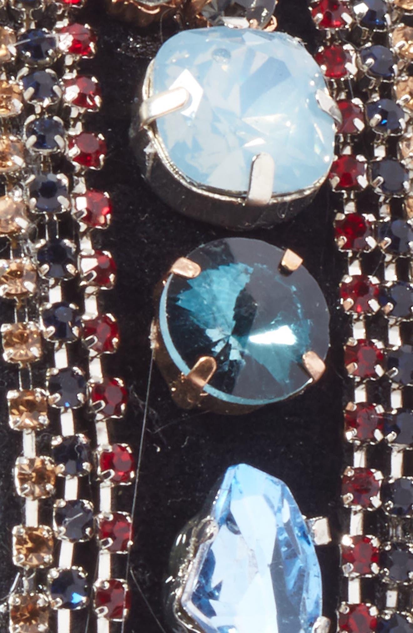Chunky Crystal Embellished Headband,                             Alternate thumbnail 2, color,                             Blue Multi