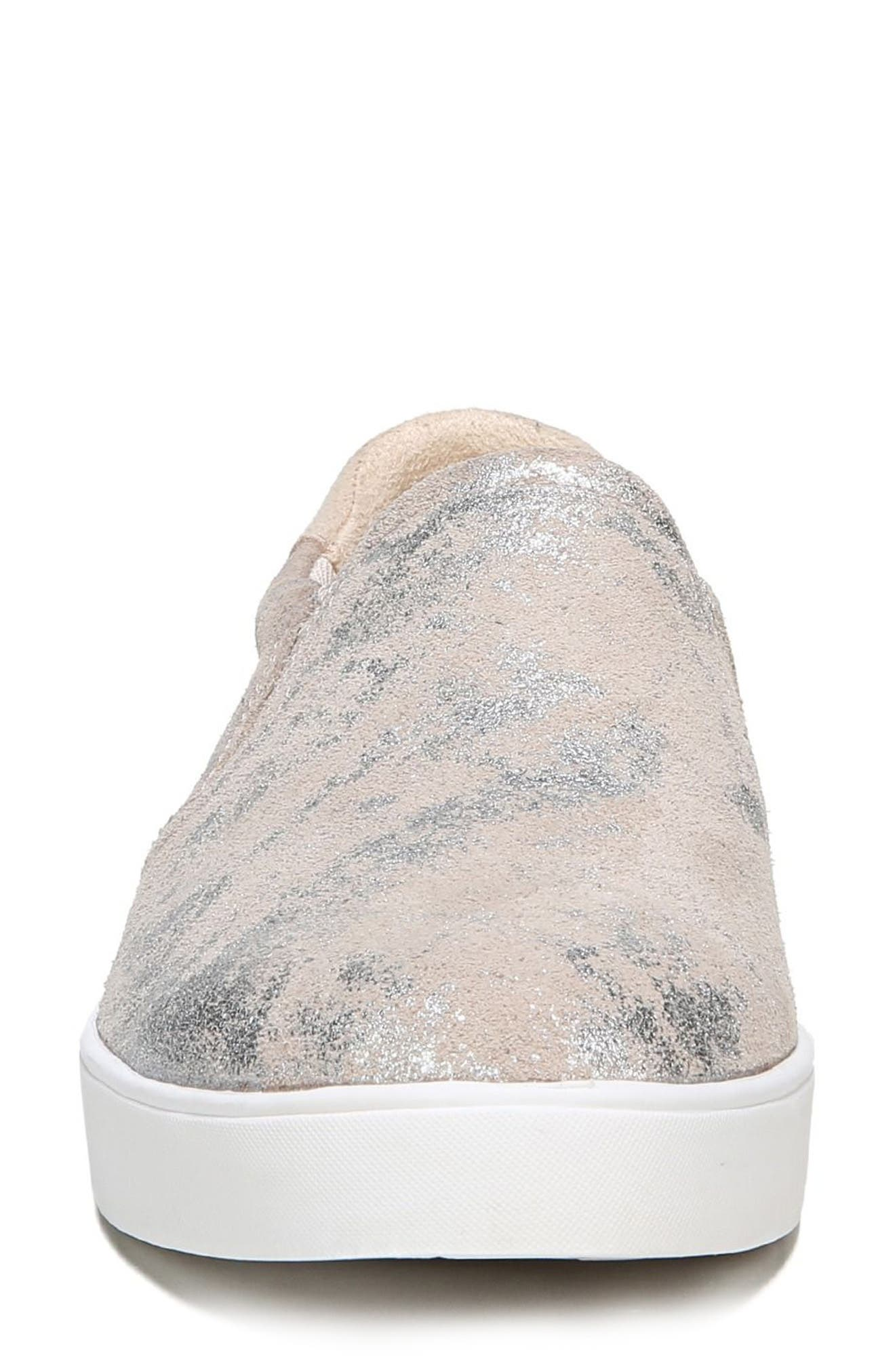 Original Collection 'Scout' Slip On Sneaker,                             Alternate thumbnail 4, color,                             Silver Leather