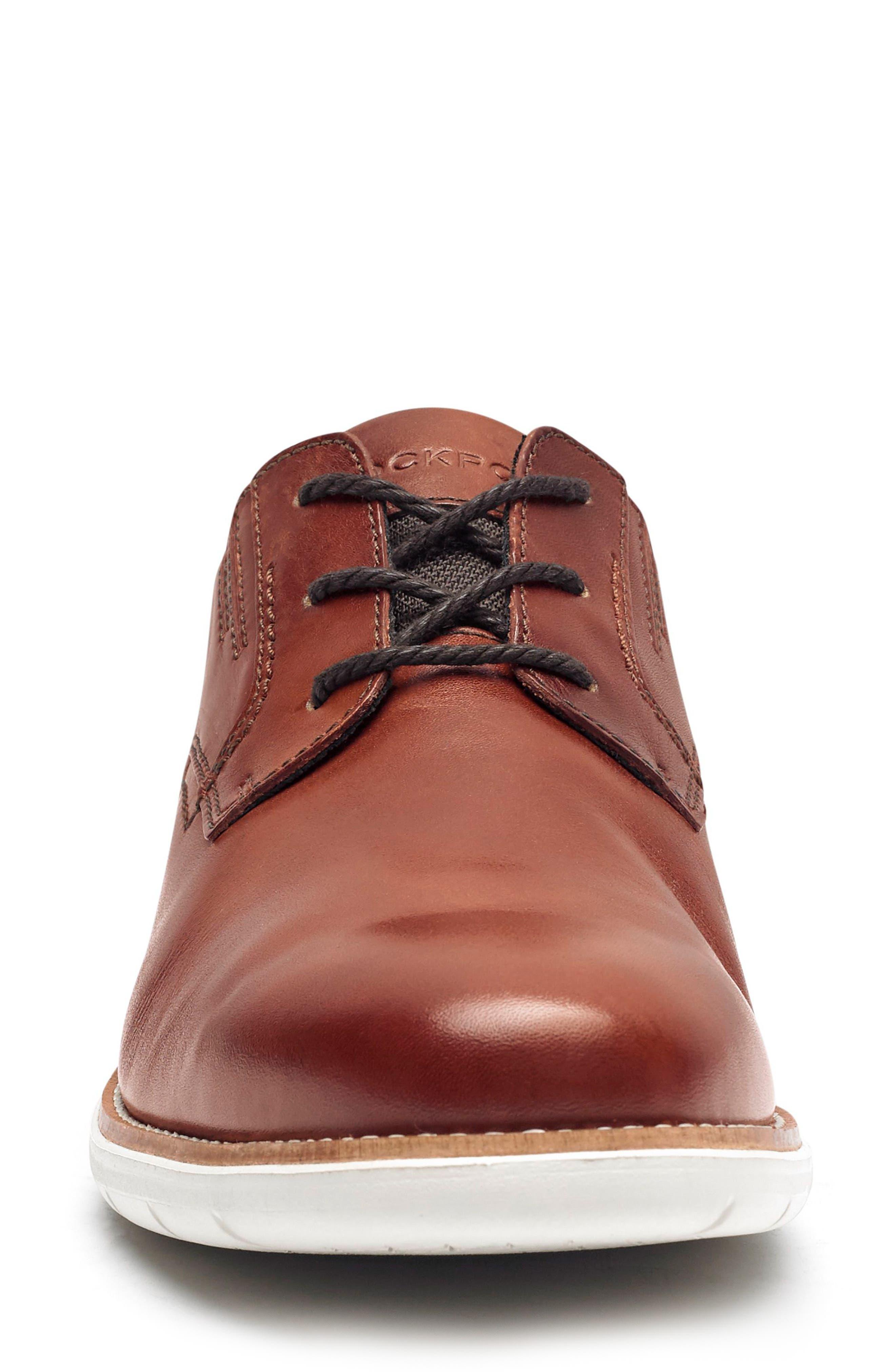 Total Motion Sport Plain Toe Derby,                             Alternate thumbnail 4, color,                             Tan Leather