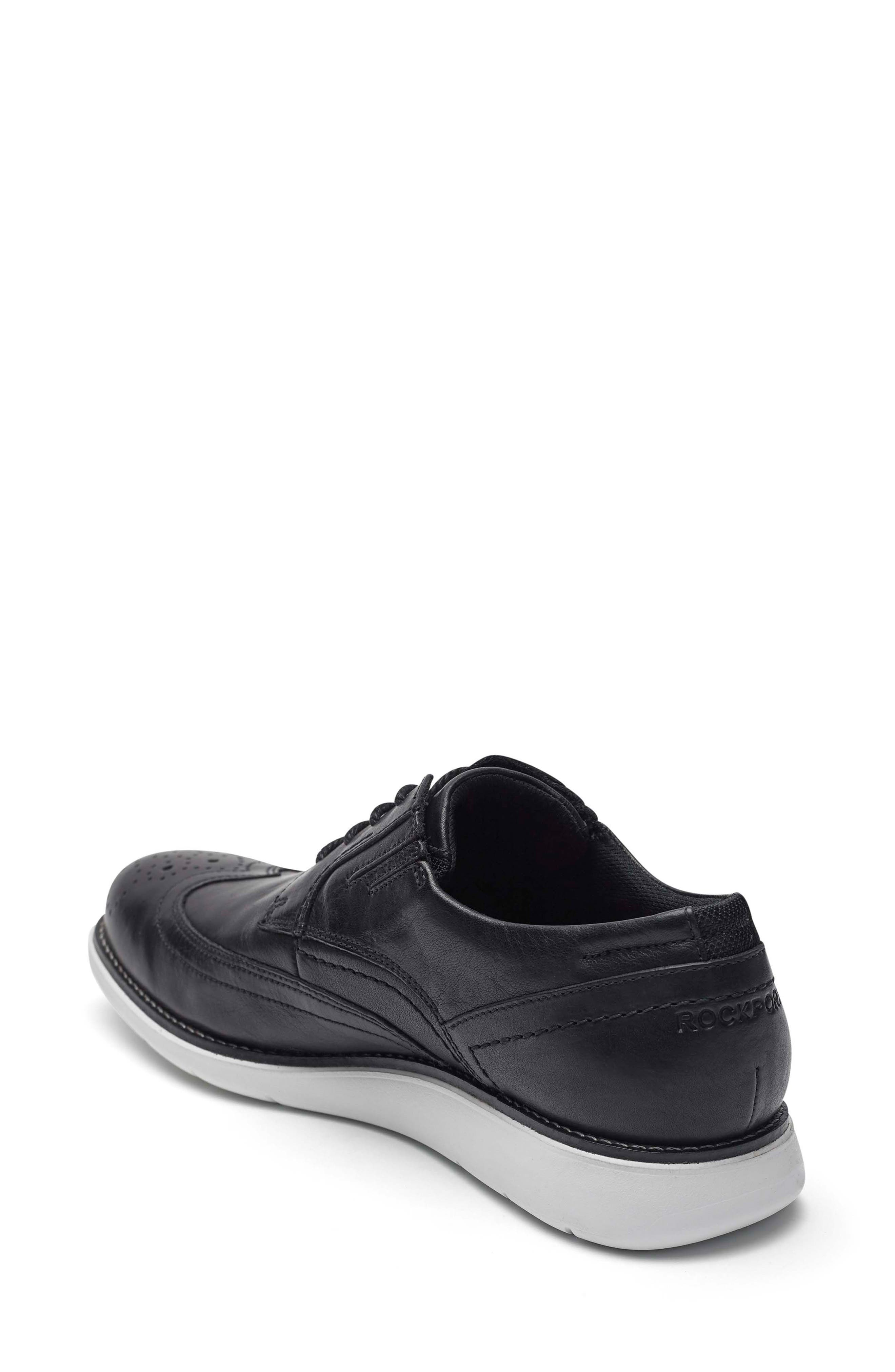 Total Motion Sport Wingtip,                             Alternate thumbnail 2, color,                             Black Leather