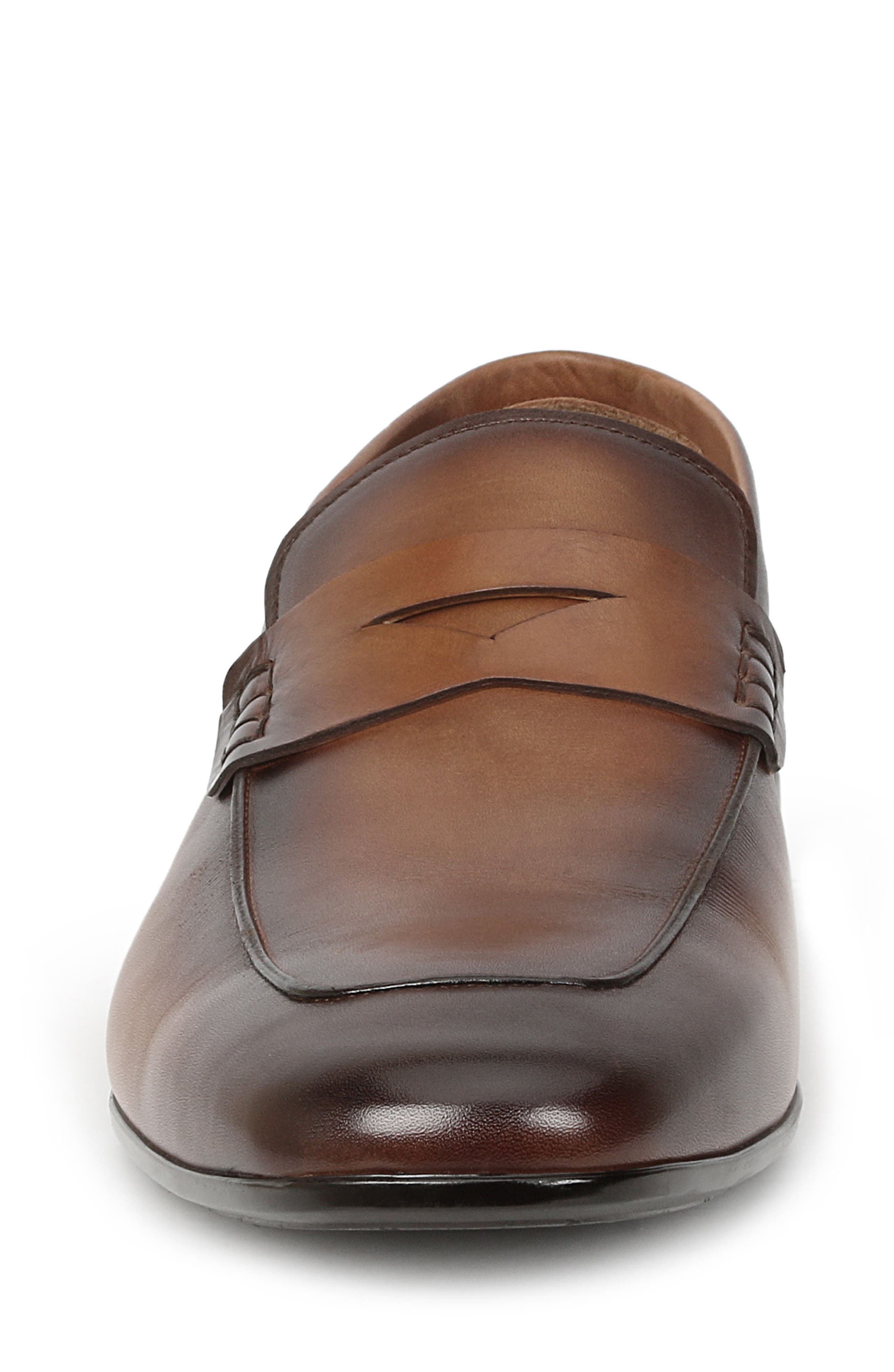 Margot Penny Loafer,                             Alternate thumbnail 4, color,                             Cognac