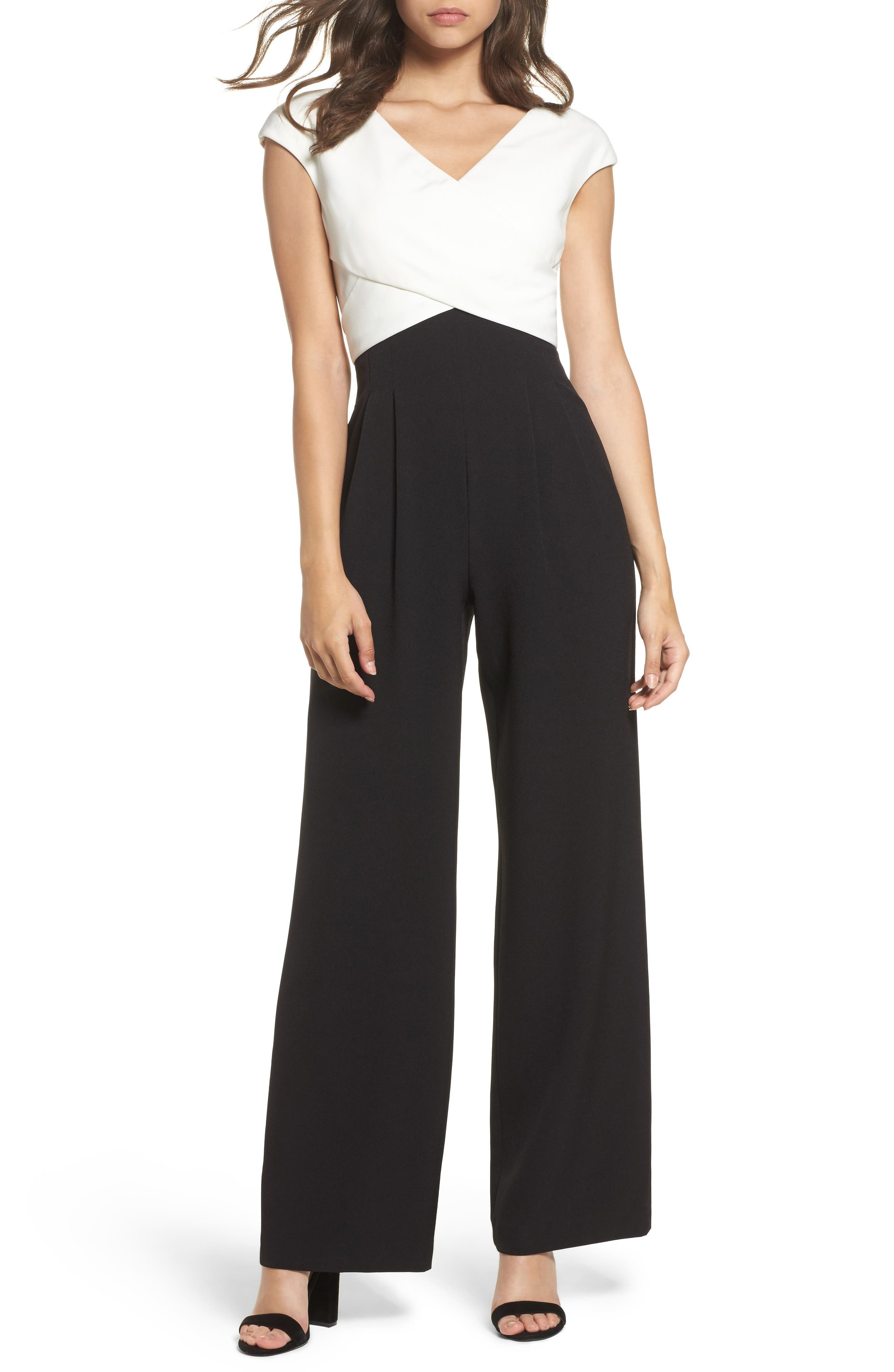 Eliza J Cap Sleeve Jumpsuit (Regular & Petite)