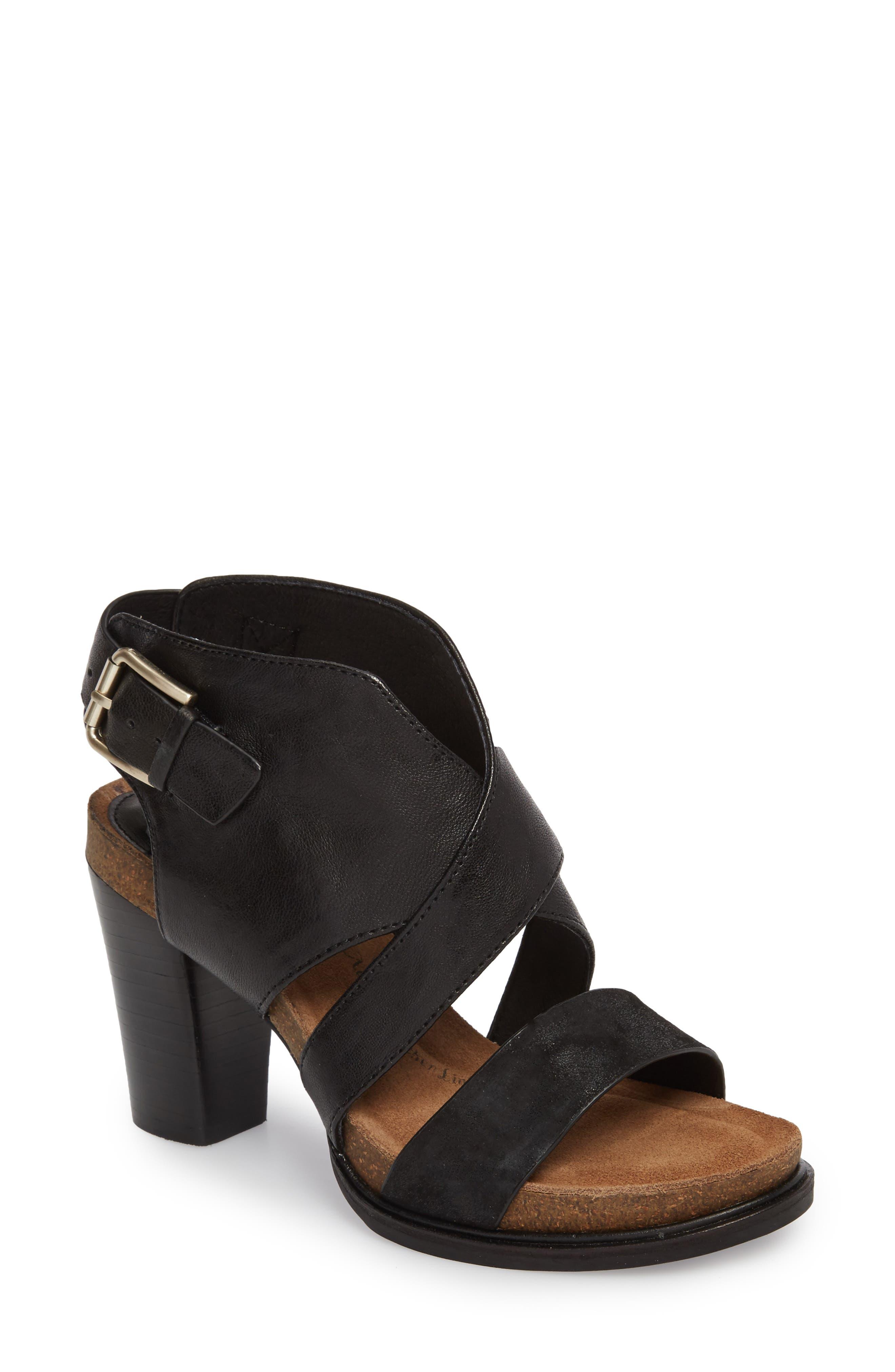 Christine Sandal,                         Main,                         color, Black Leather