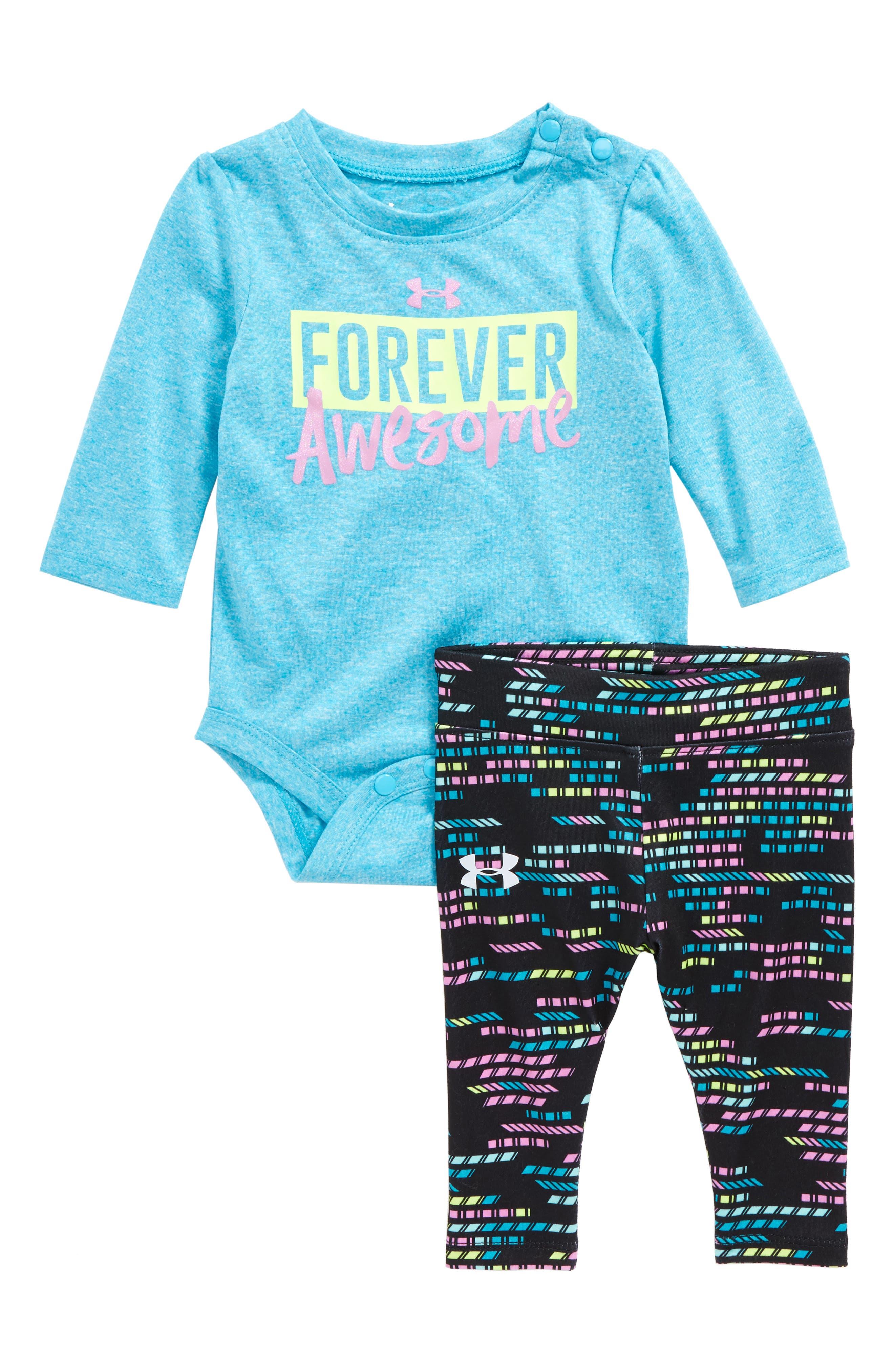 Under Armour Forever Awesome Bodysuit & Leggings Set (Baby Girls)