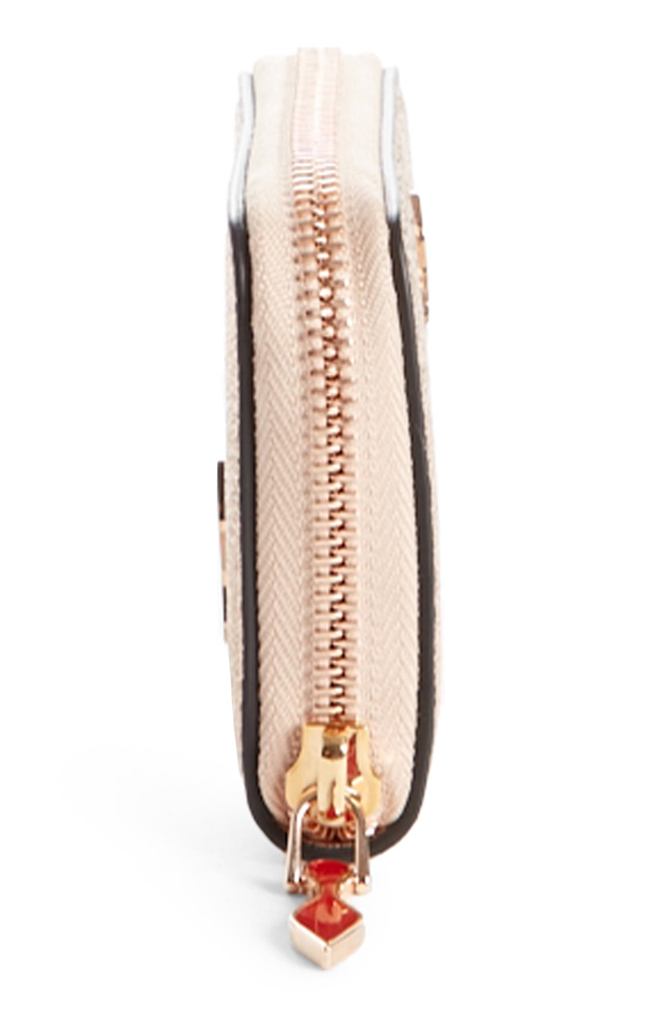 Panettone Leather Coin Purse,                             Alternate thumbnail 3, color,                             Rose Gold/ Rose Gold