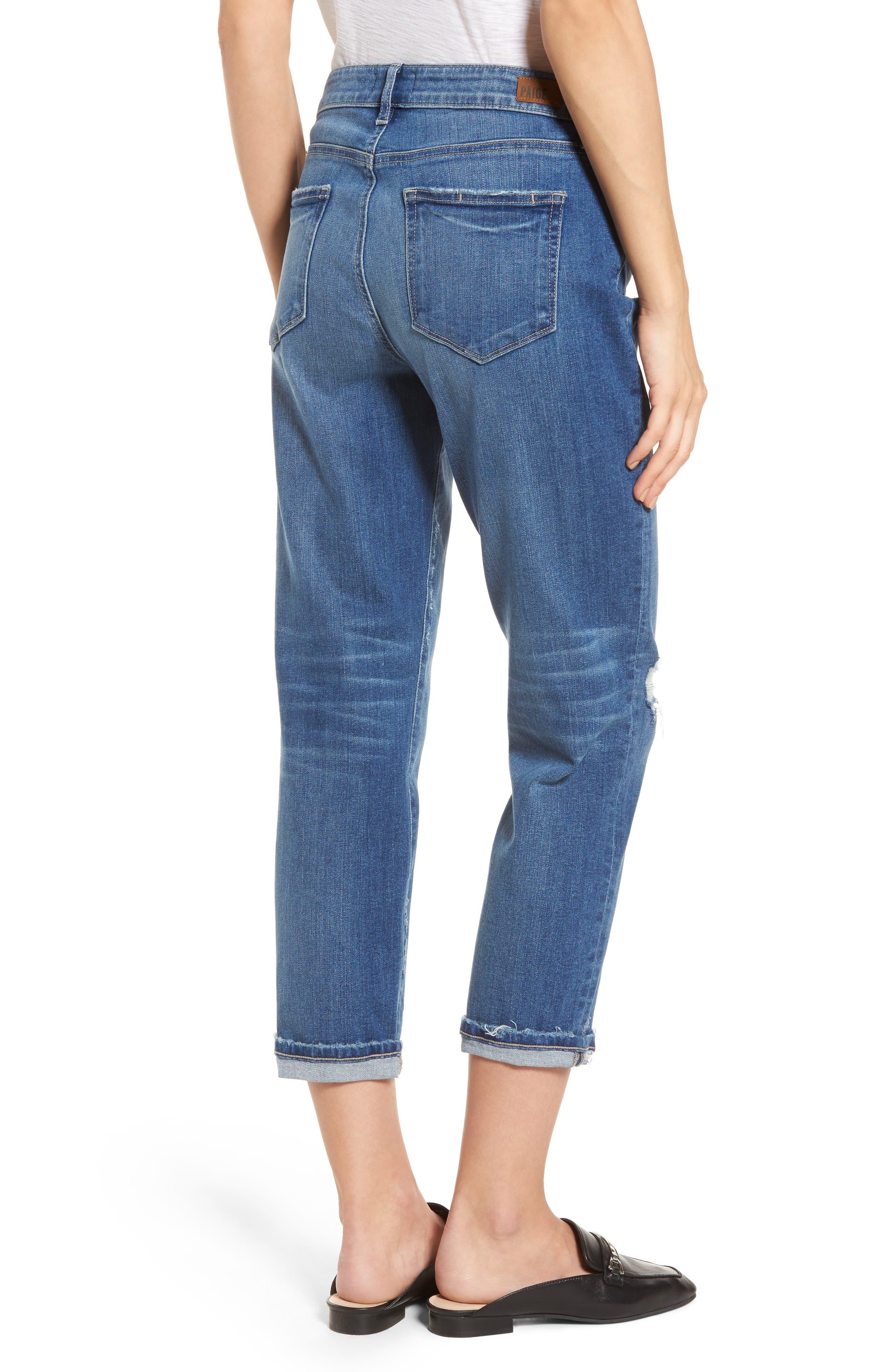 Jimmy Jimmy High Waist Crop Boyfriend Jeans,                             Alternate thumbnail 2, color,                             Ludlow Destructed