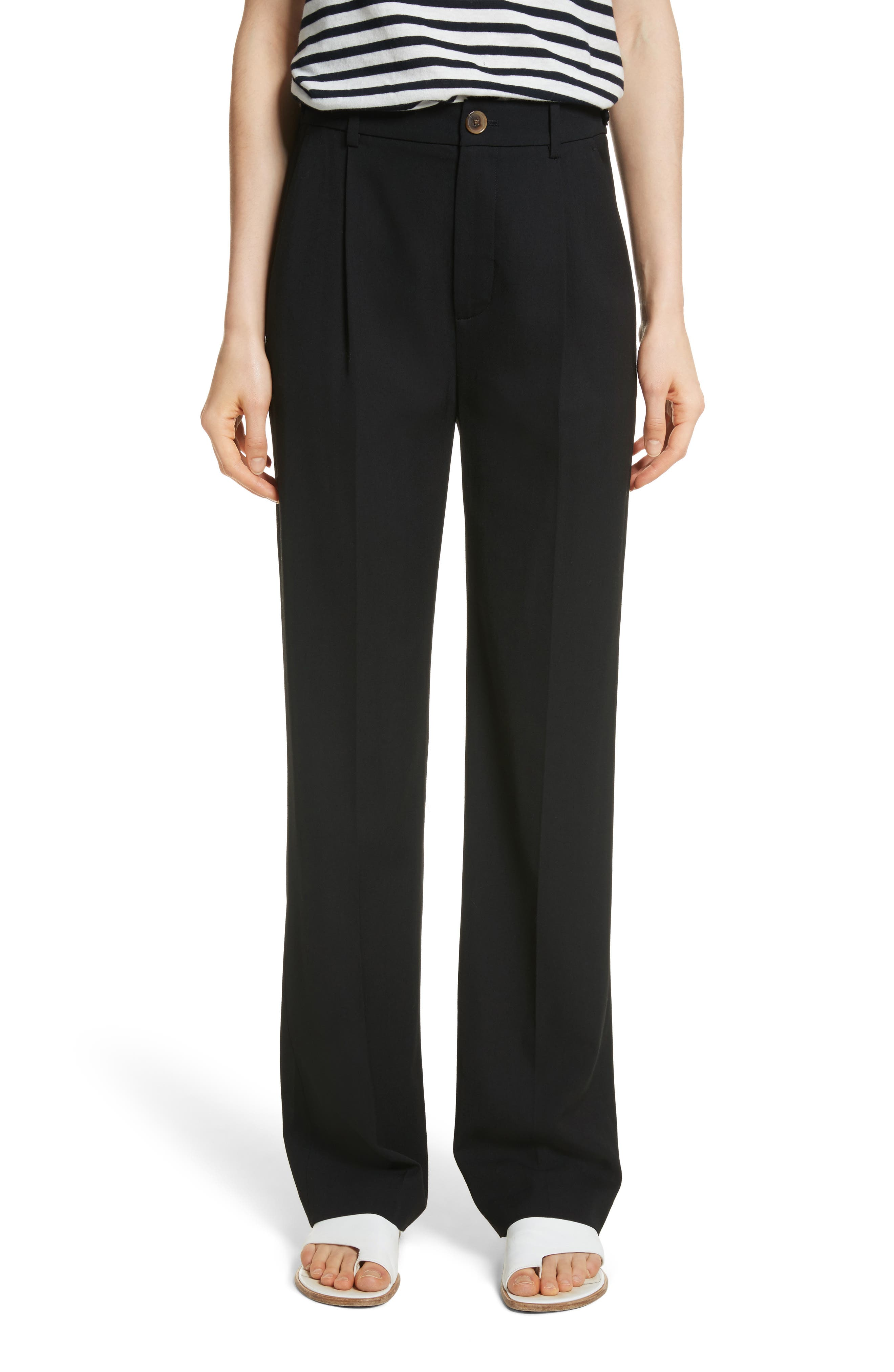 Relaxed Trousers,                             Main thumbnail 1, color,                             Black