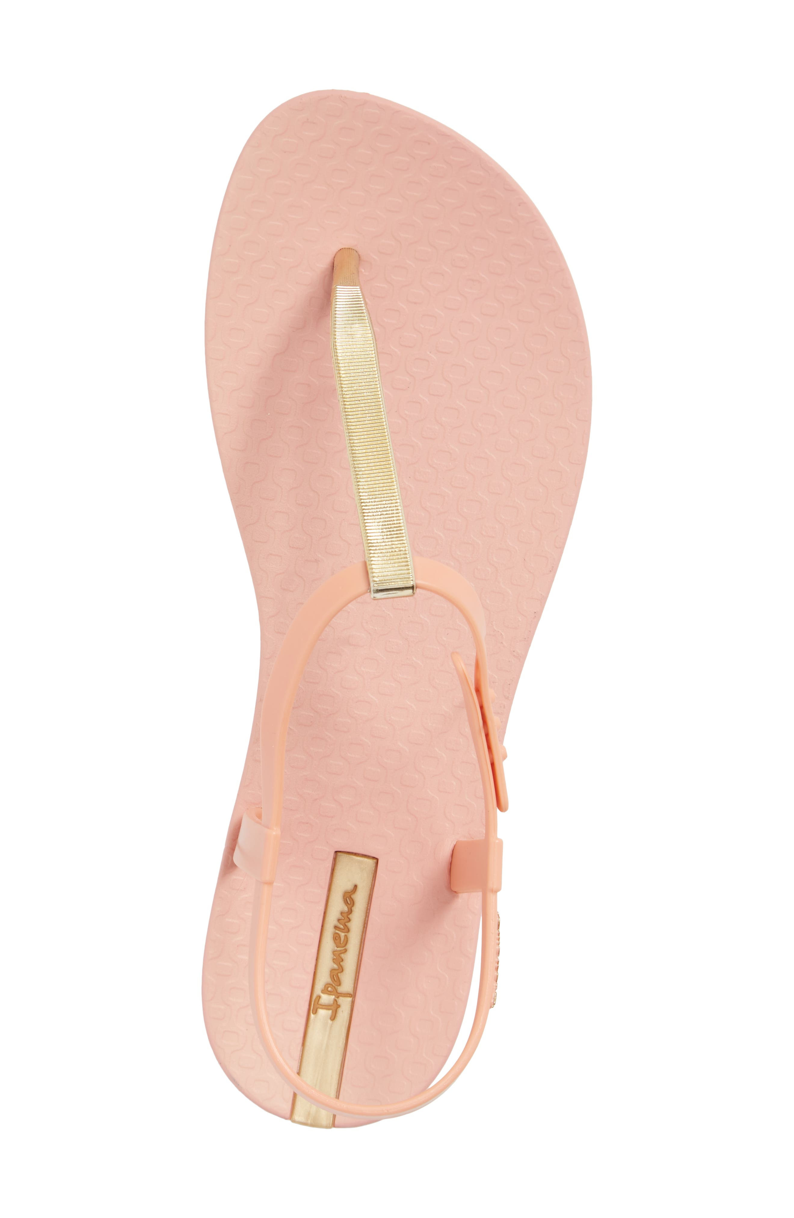 Bandeau Sandal,                             Alternate thumbnail 5, color,                             Pink/ Gold