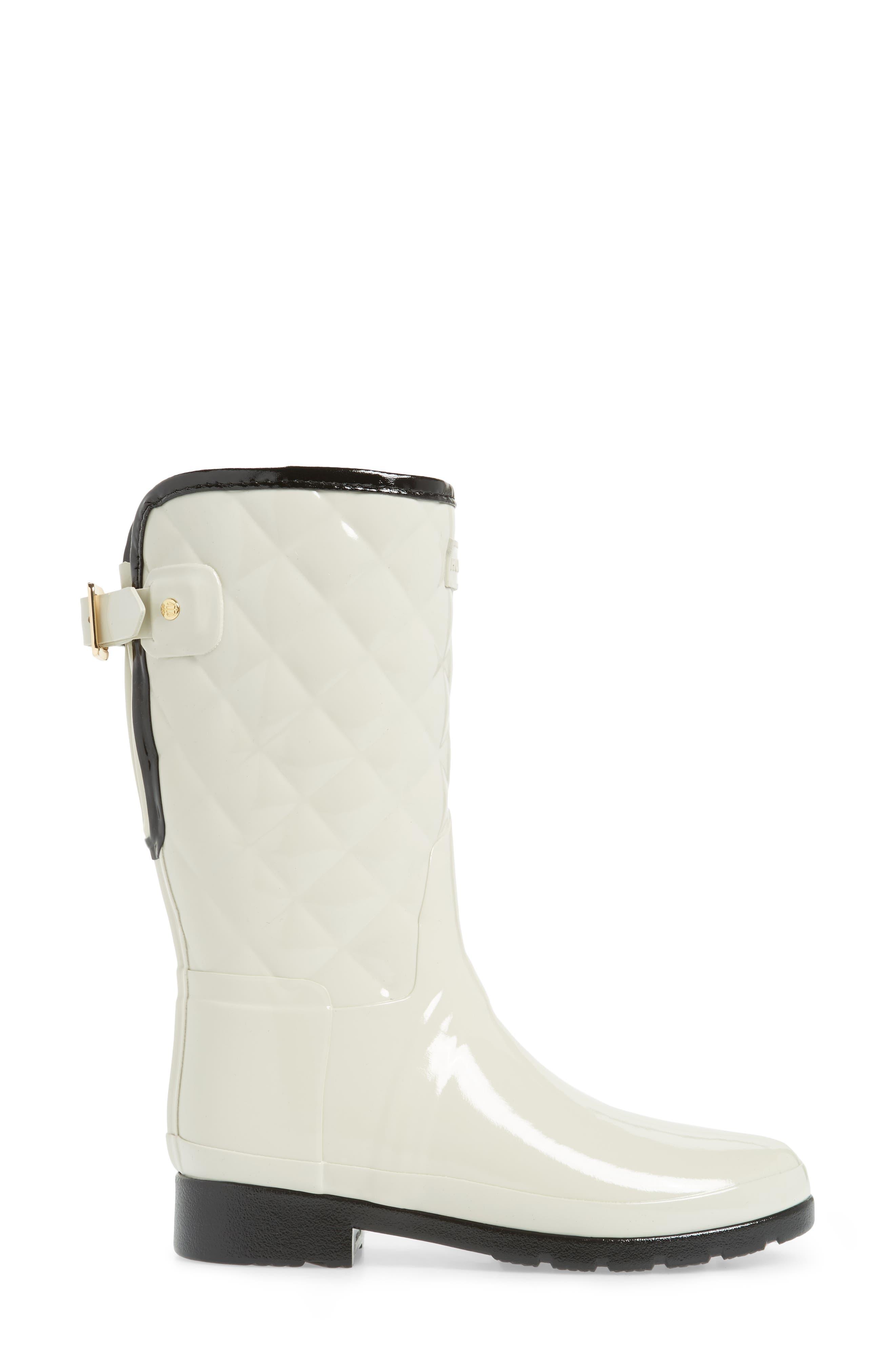 Alternate Image 3  - Hunter Refined High Gloss Quilted Short Rain Boot (Women)