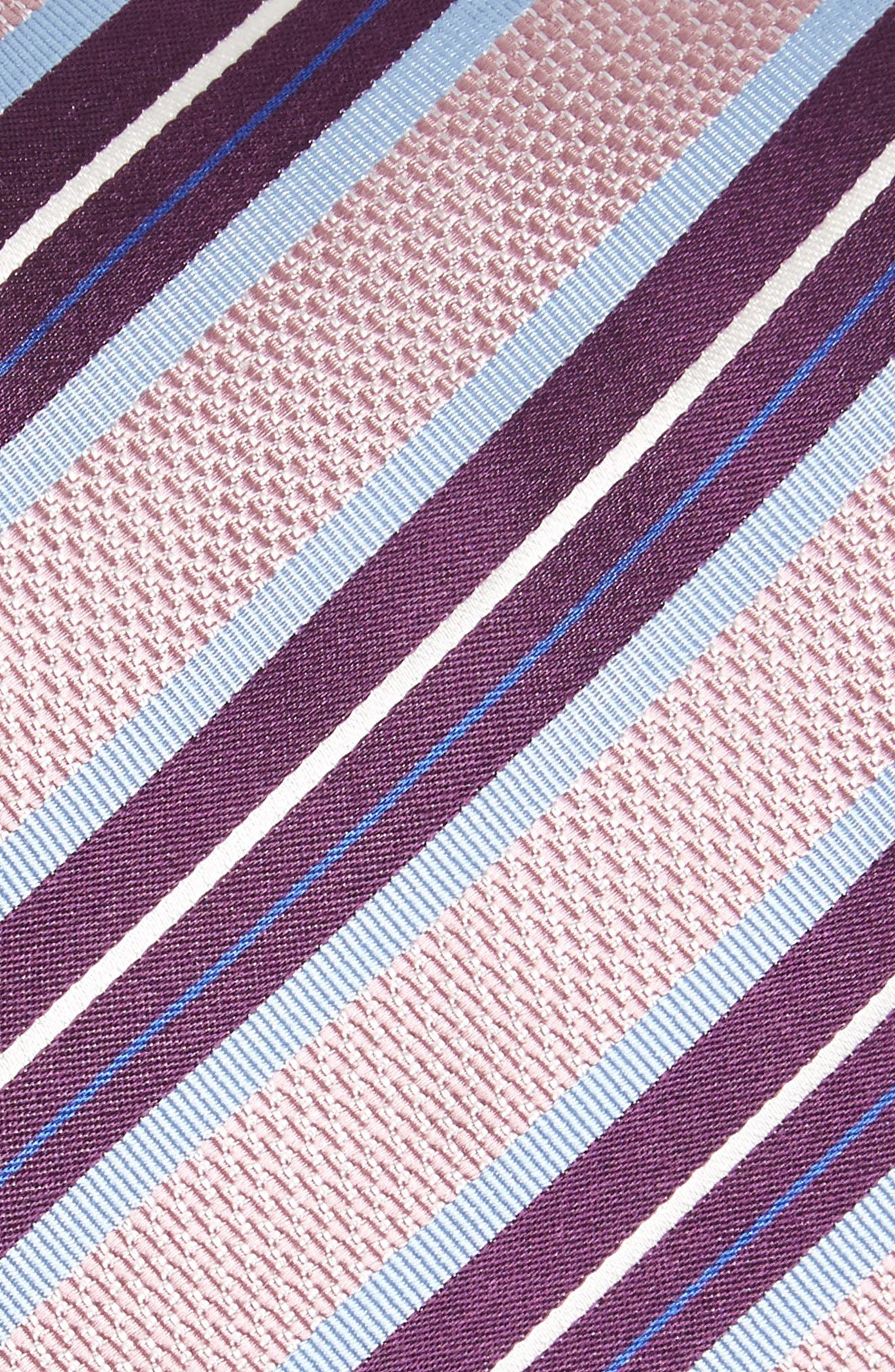 Stripe Silk Tie,                             Alternate thumbnail 2, color,                             Pink