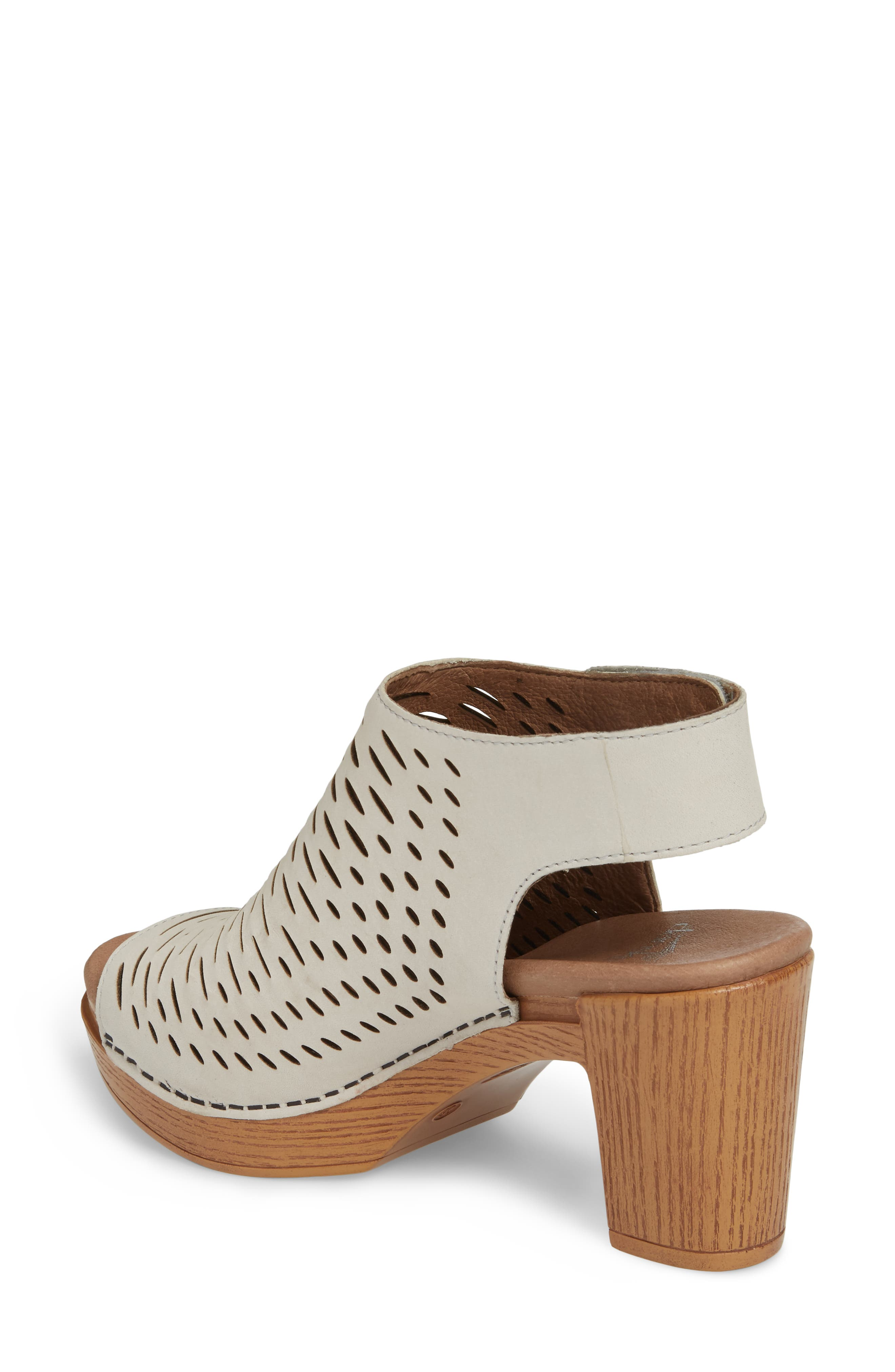 Danae Block Heel Sandal,                             Alternate thumbnail 2, color,                             Oyster Milled Nubuck Leather