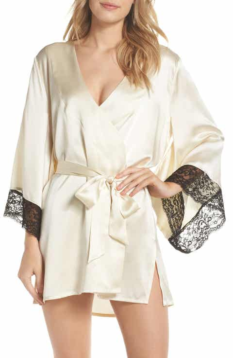 Samantha Chang Yukata Lace & Silk Robe