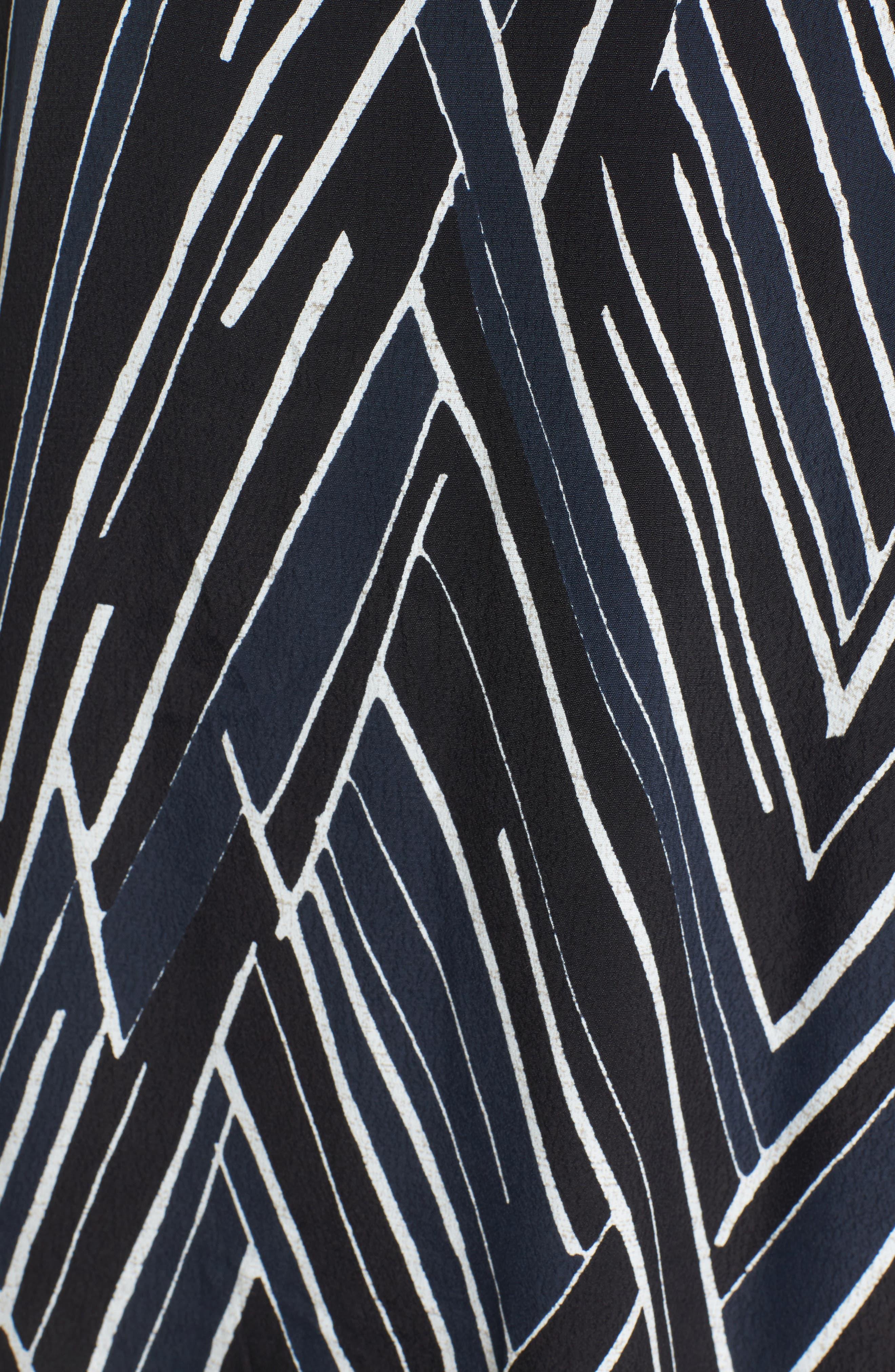 Bells & Whistles Cold Shoulder Dress,                             Alternate thumbnail 5, color,                             Black Multi