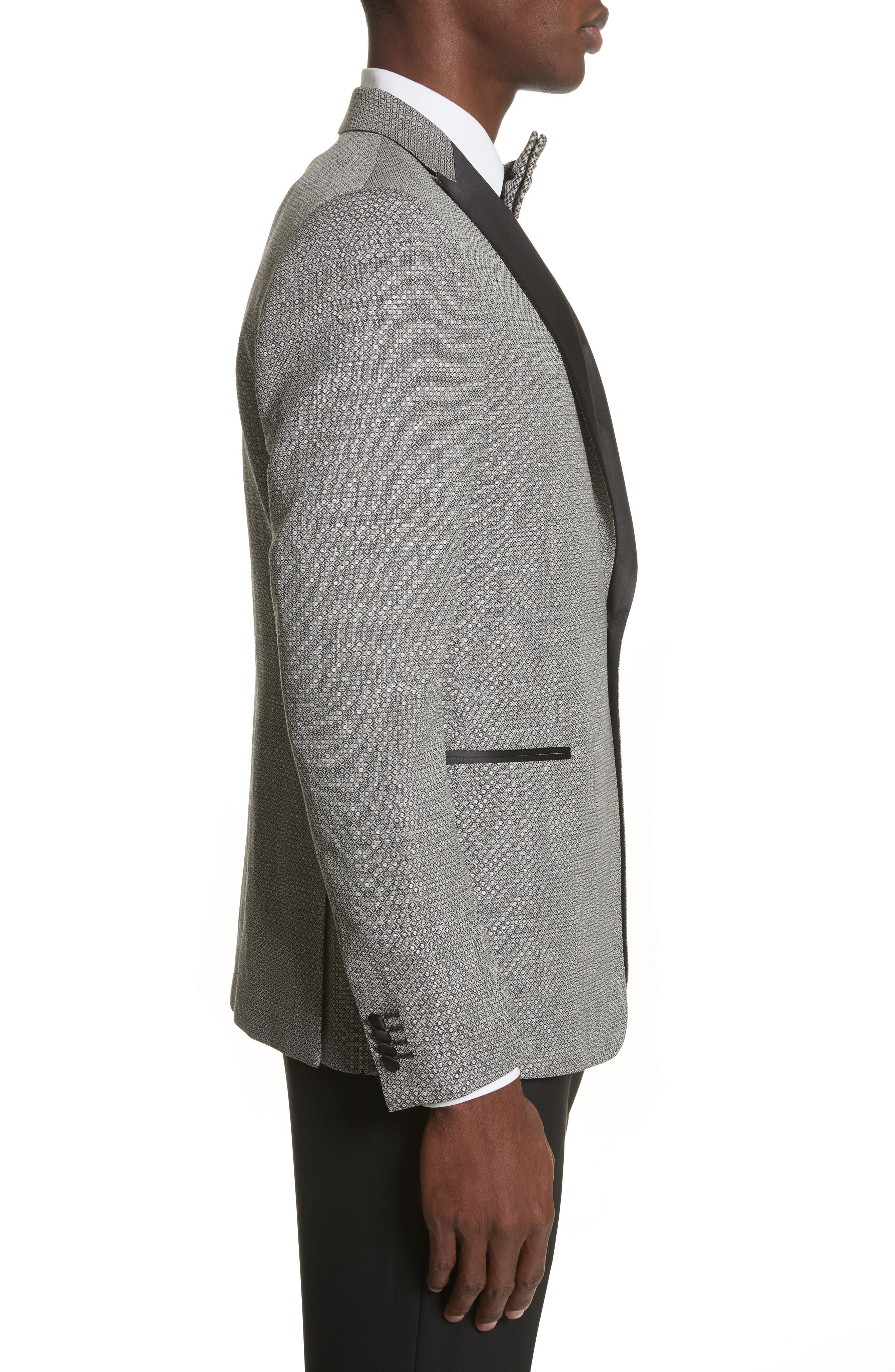 Alternate Image 3  - Z Zegna Classic Fit Stretch Wool & Linen Dinner Jacket
