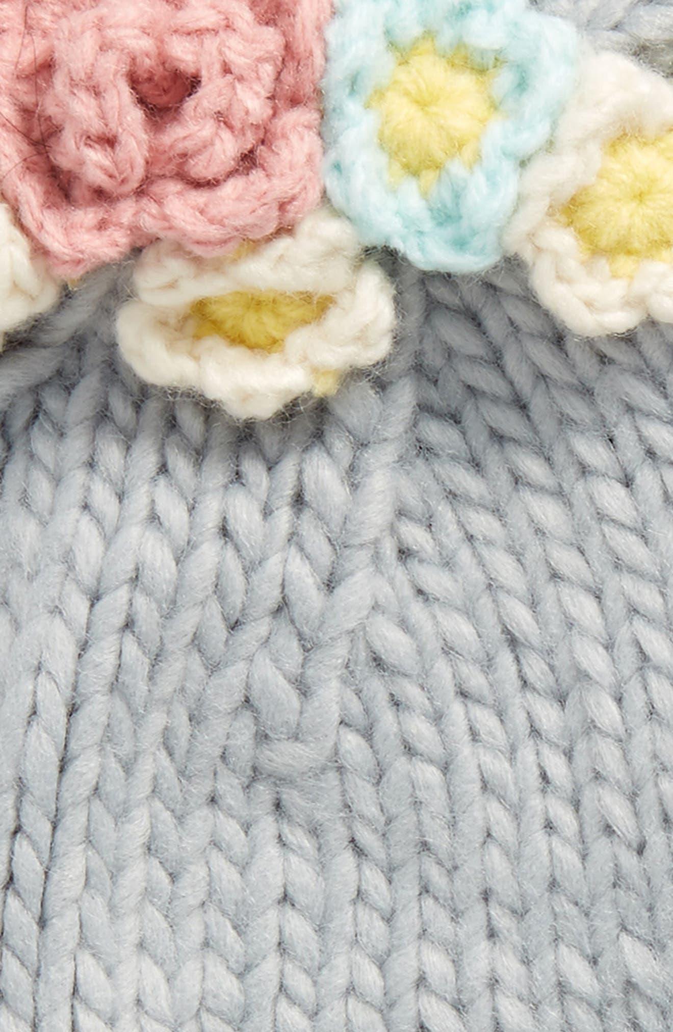 Floral Appliqué Bunny Hat,                             Alternate thumbnail 2, color,                             Bailey